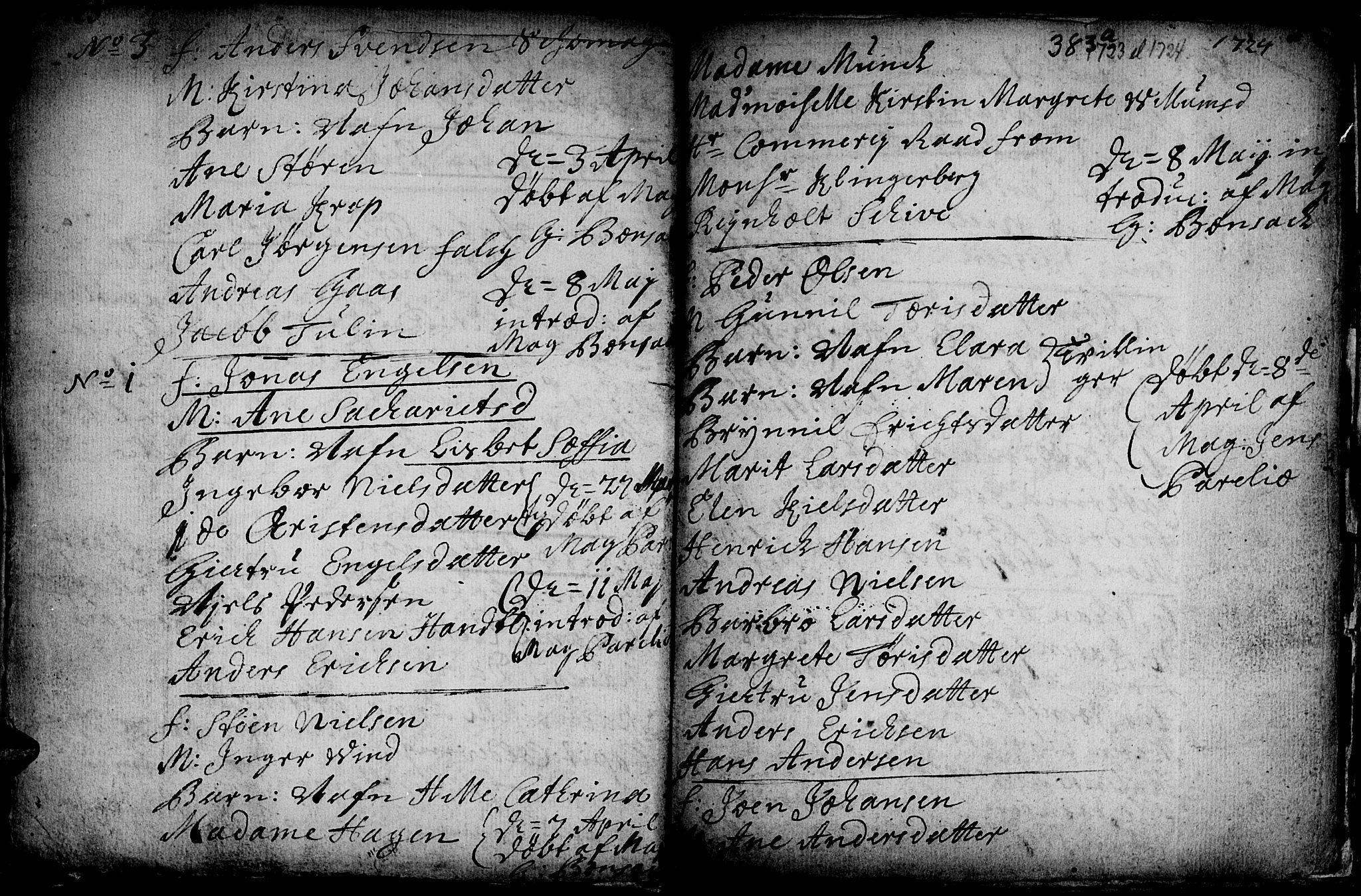 SAT, Ministerialprotokoller, klokkerbøker og fødselsregistre - Sør-Trøndelag, 601/L0035: Ministerialbok nr. 601A03, 1713-1728, s. 383b