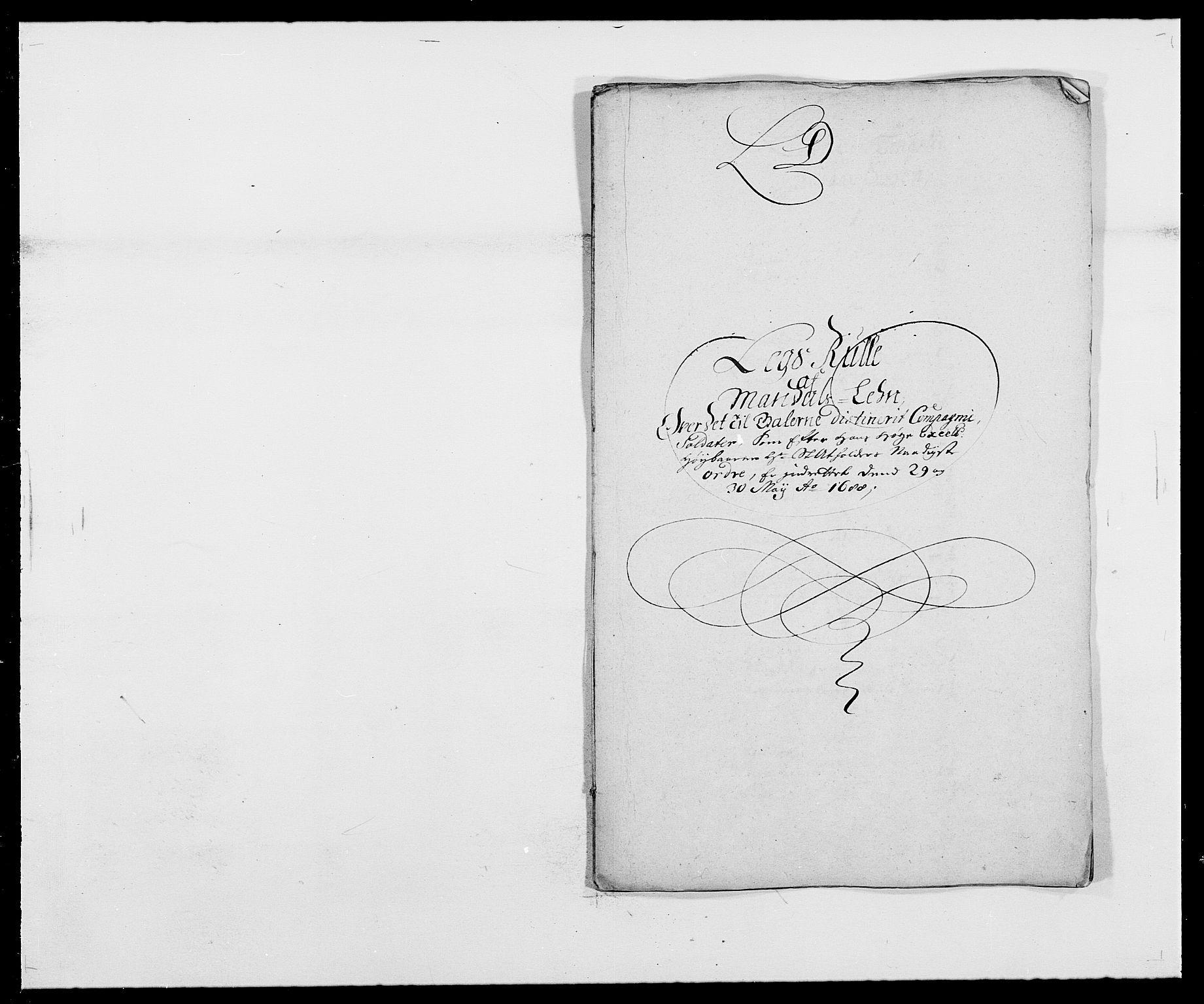 RA, Rentekammeret inntil 1814, Reviderte regnskaper, Fogderegnskap, R42/L2543: Mandal fogderi, 1688-1691, s. 54
