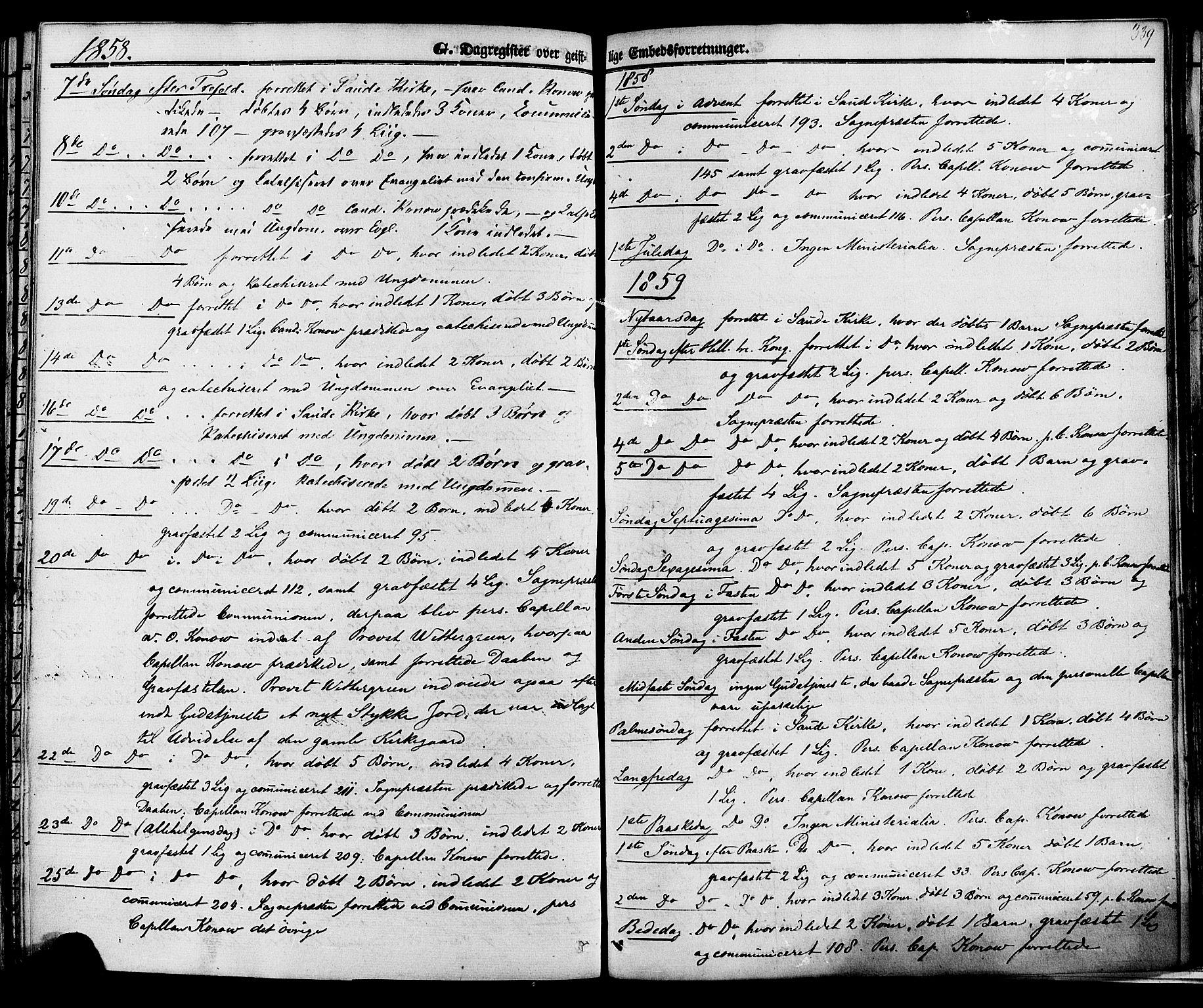 SAKO, Sauherad kirkebøker, F/Fa/L0007: Ministerialbok nr. I 7, 1851-1873, s. 339