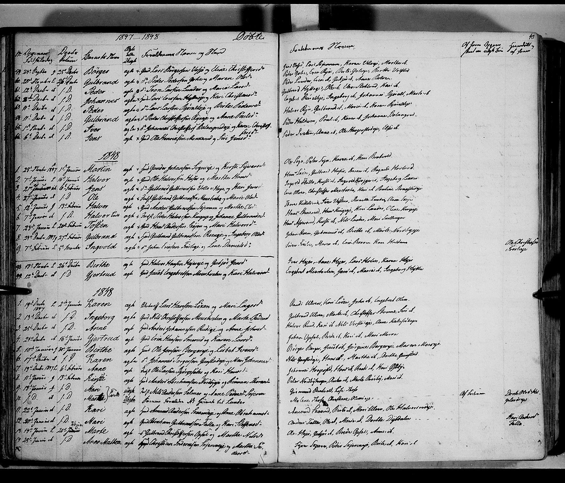SAH, Jevnaker prestekontor, Ministerialbok nr. 6, 1837-1857, s. 40
