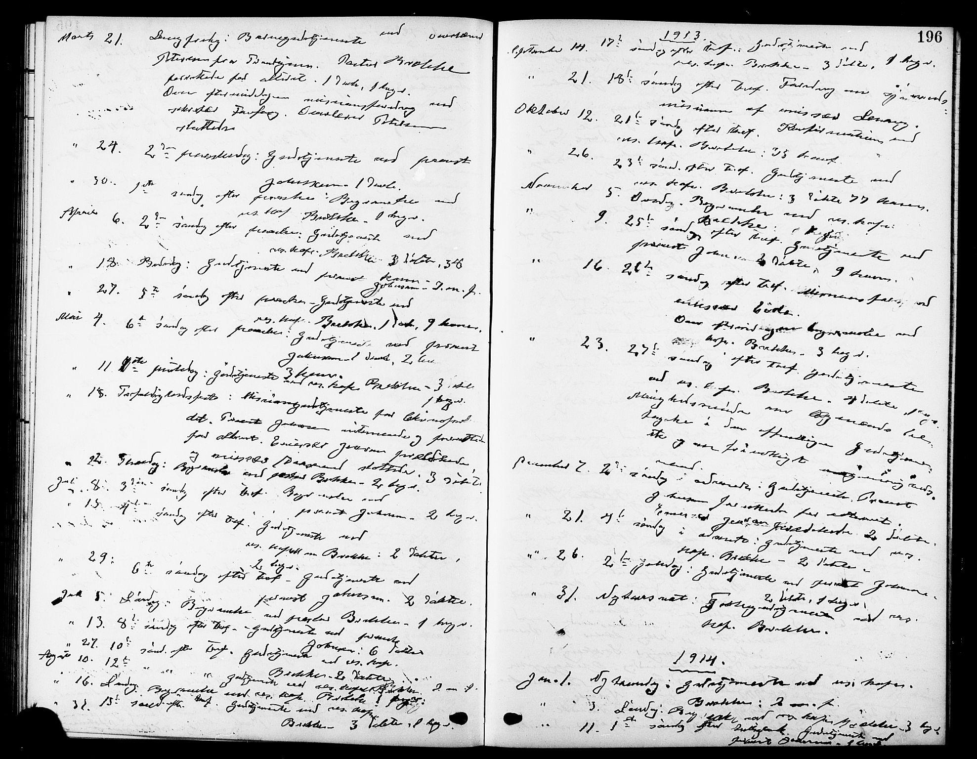 SAT, Ministerialprotokoller, klokkerbøker og fødselsregistre - Sør-Trøndelag, 669/L0831: Klokkerbok nr. 669C01, 1909-1924, s. 196