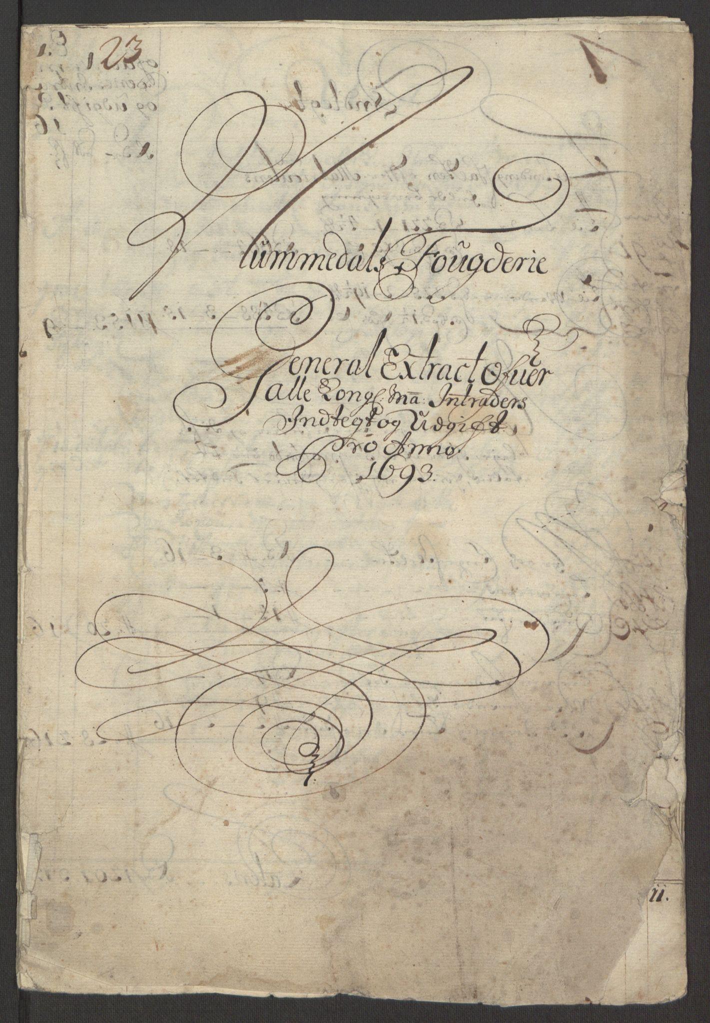 RA, Rentekammeret inntil 1814, Reviderte regnskaper, Fogderegnskap, R64/L4424: Fogderegnskap Namdal, 1692-1695, s. 229