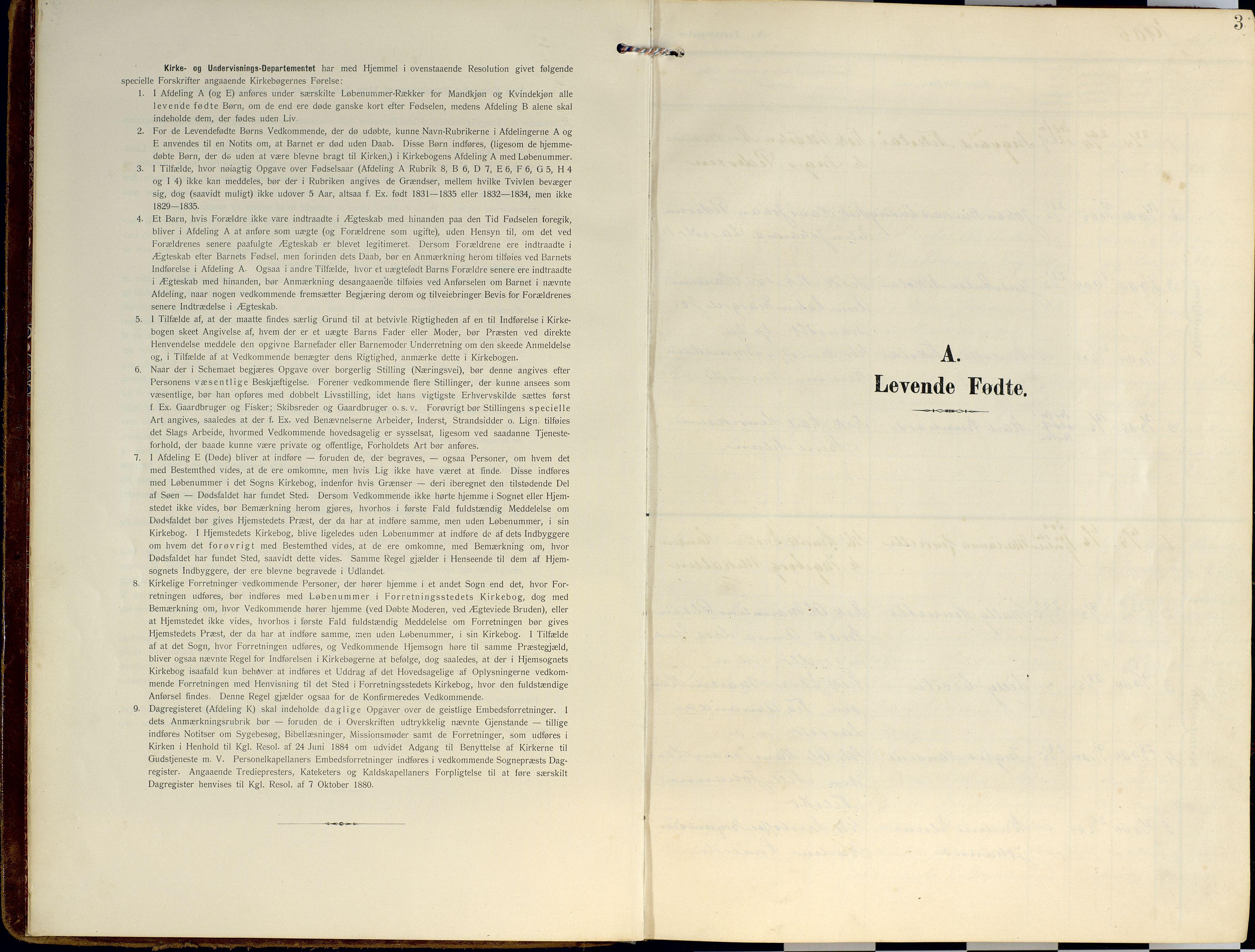 SATØ, Lyngen sokneprestembete, Ministerialbok nr. 14, 1905-1920, s. 3