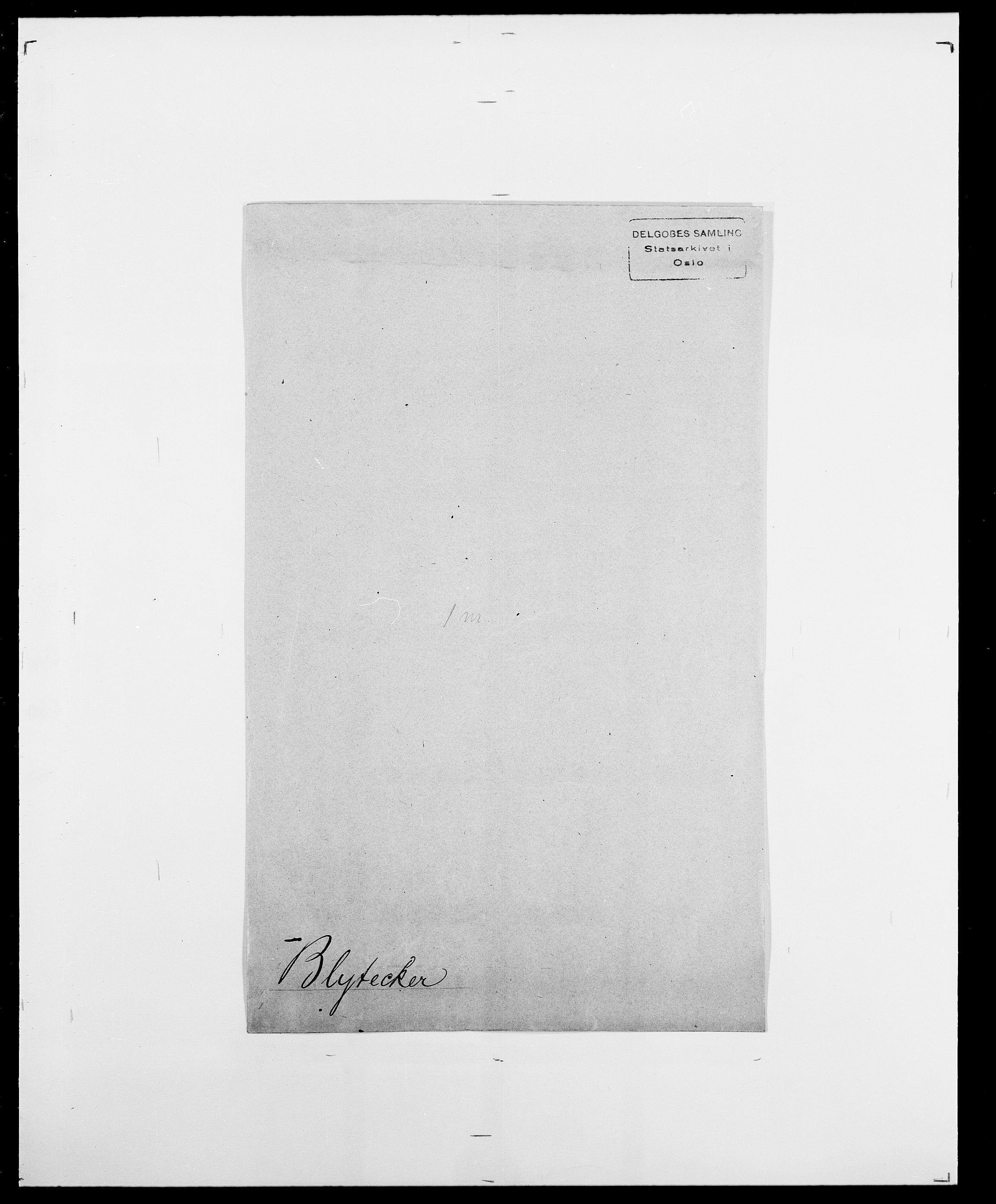 SAO, Delgobe, Charles Antoine - samling, D/Da/L0004: Bergendahl - Blære, s. 808