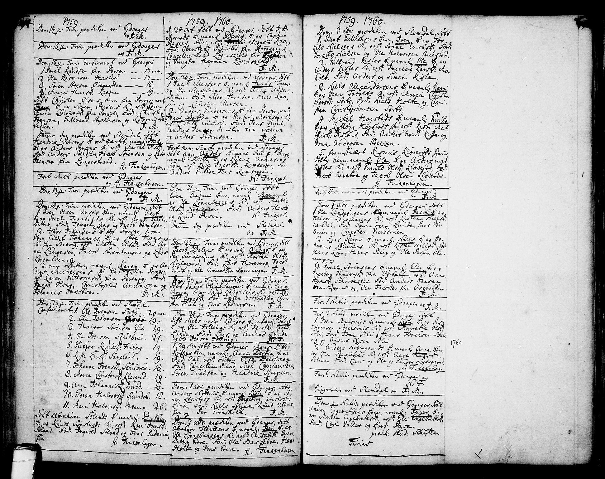 SAKO, Eidanger kirkebøker, F/Fa/L0004: Ministerialbok nr. 4, 1733-1759, s. 194-195