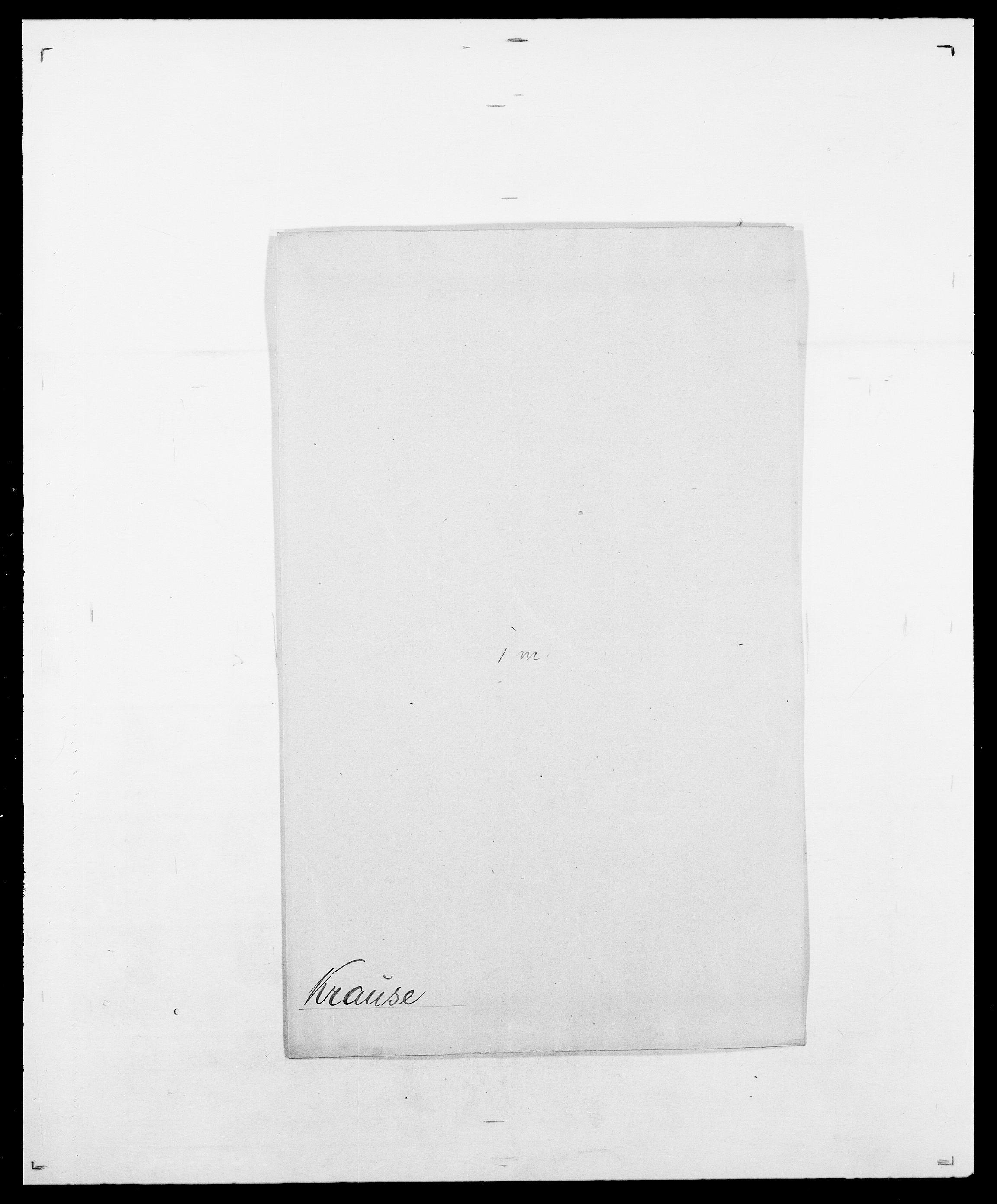 SAO, Delgobe, Charles Antoine - samling, D/Da/L0021: Klagenberg - Kristoft, s. 736