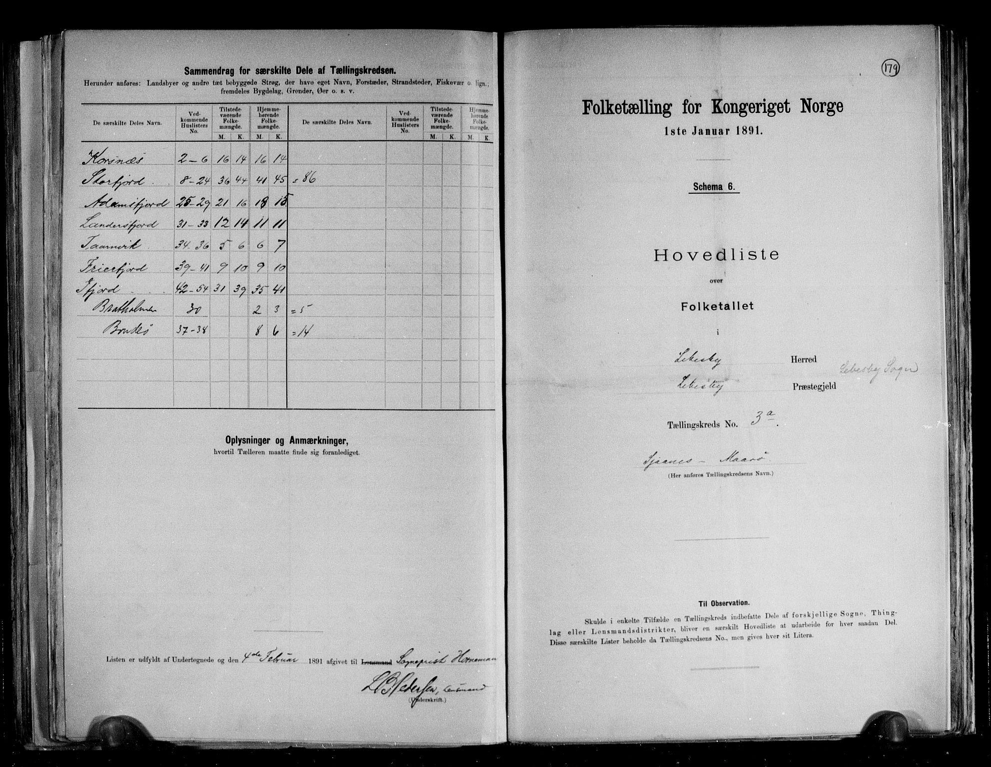 RA, Folketelling 1891 for 2022 Lebesby herred, 1891, s. 12
