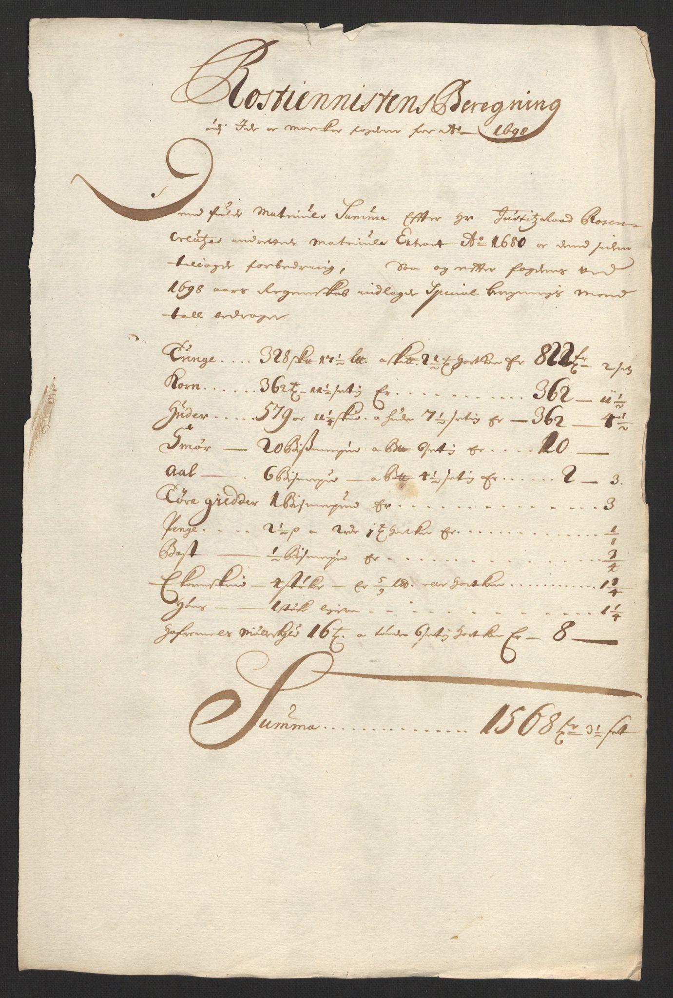 RA, Rentekammeret inntil 1814, Reviderte regnskaper, Fogderegnskap, R01/L0013: Fogderegnskap Idd og Marker, 1696-1698, s. 339