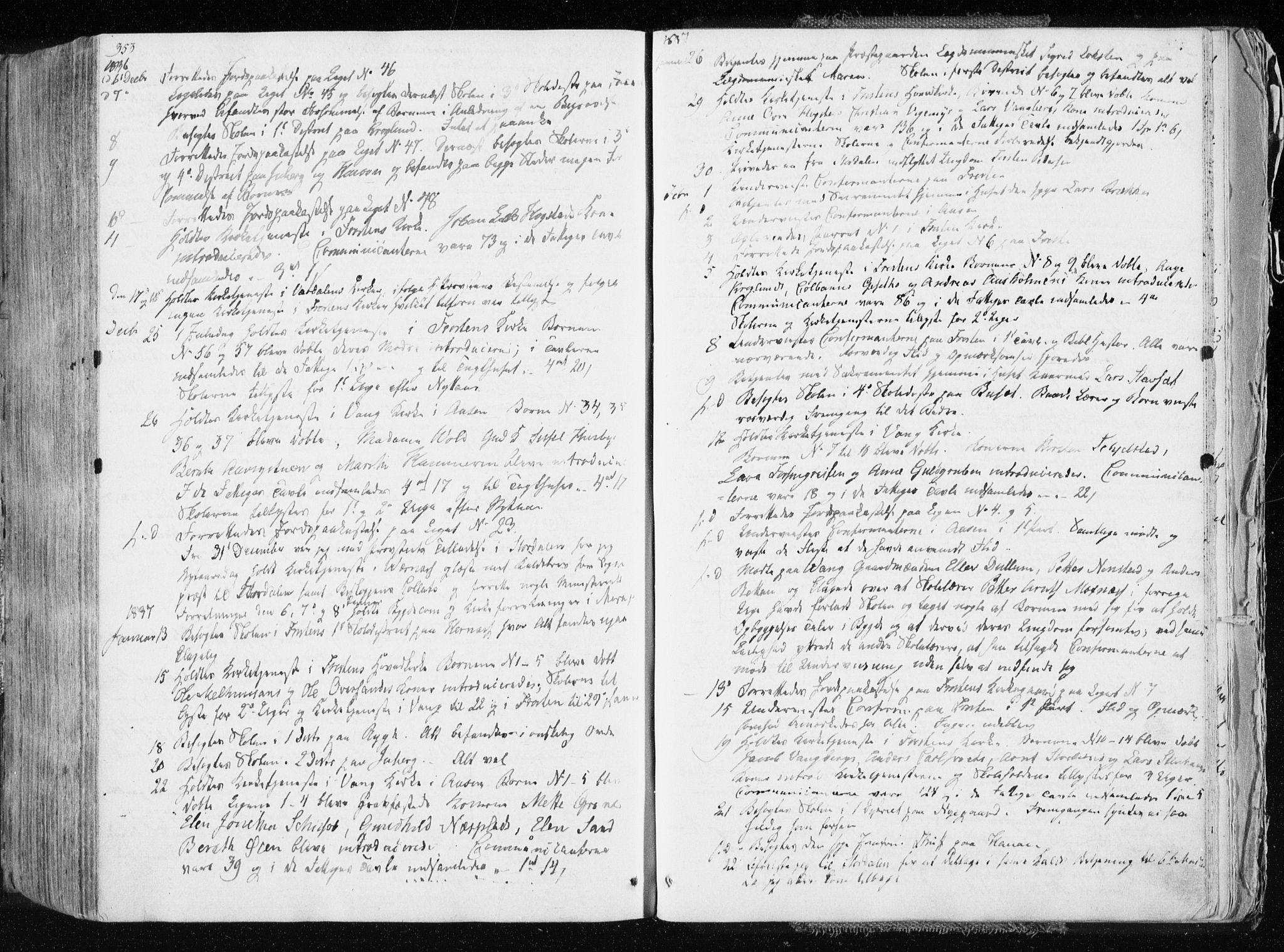 SAT, Ministerialprotokoller, klokkerbøker og fødselsregistre - Nord-Trøndelag, 713/L0114: Ministerialbok nr. 713A05, 1827-1839, s. 353