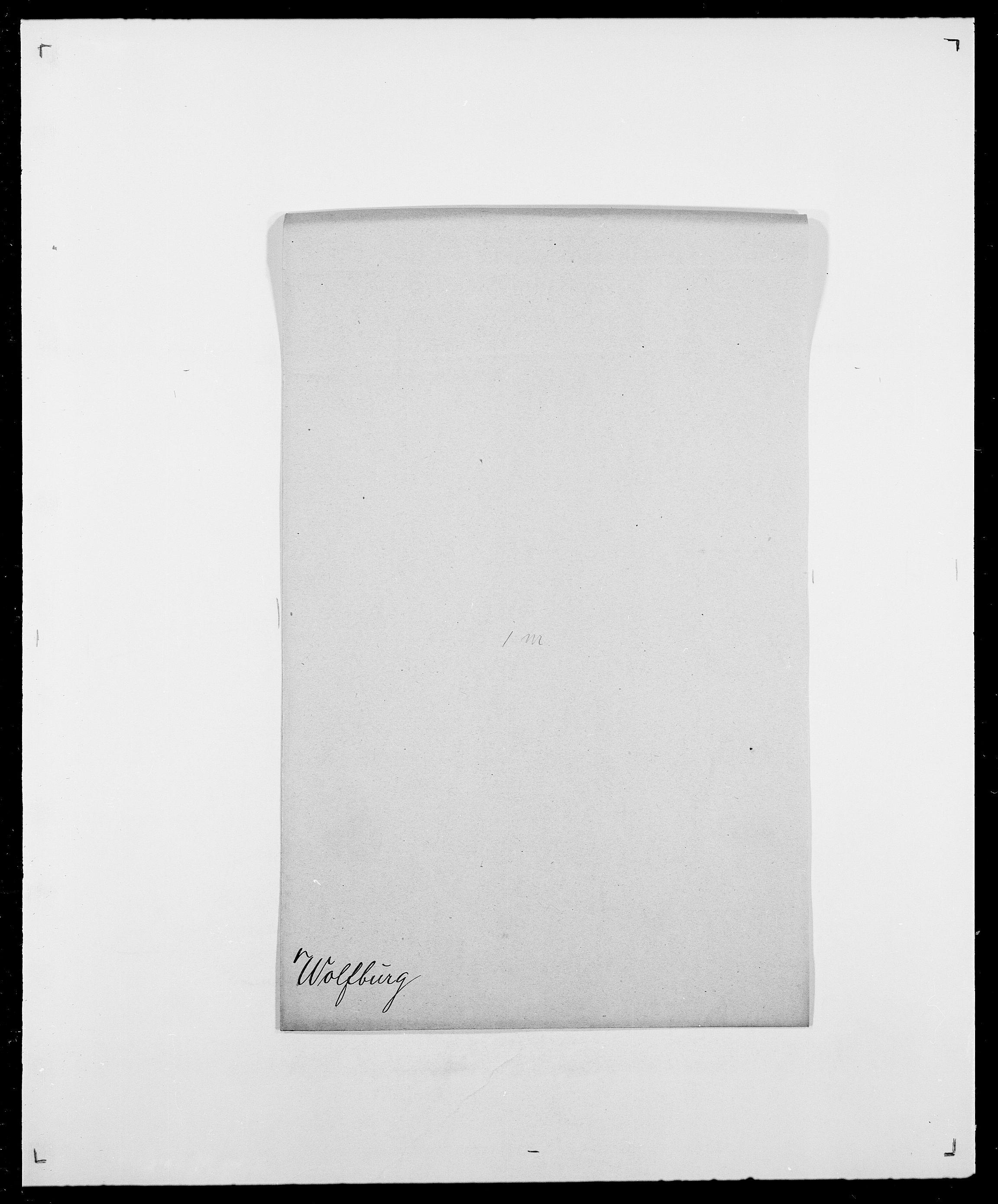 SAO, Delgobe, Charles Antoine - samling, D/Da/L0042: Vilain - Wulf, Wulff, se også Wolf, s. 647