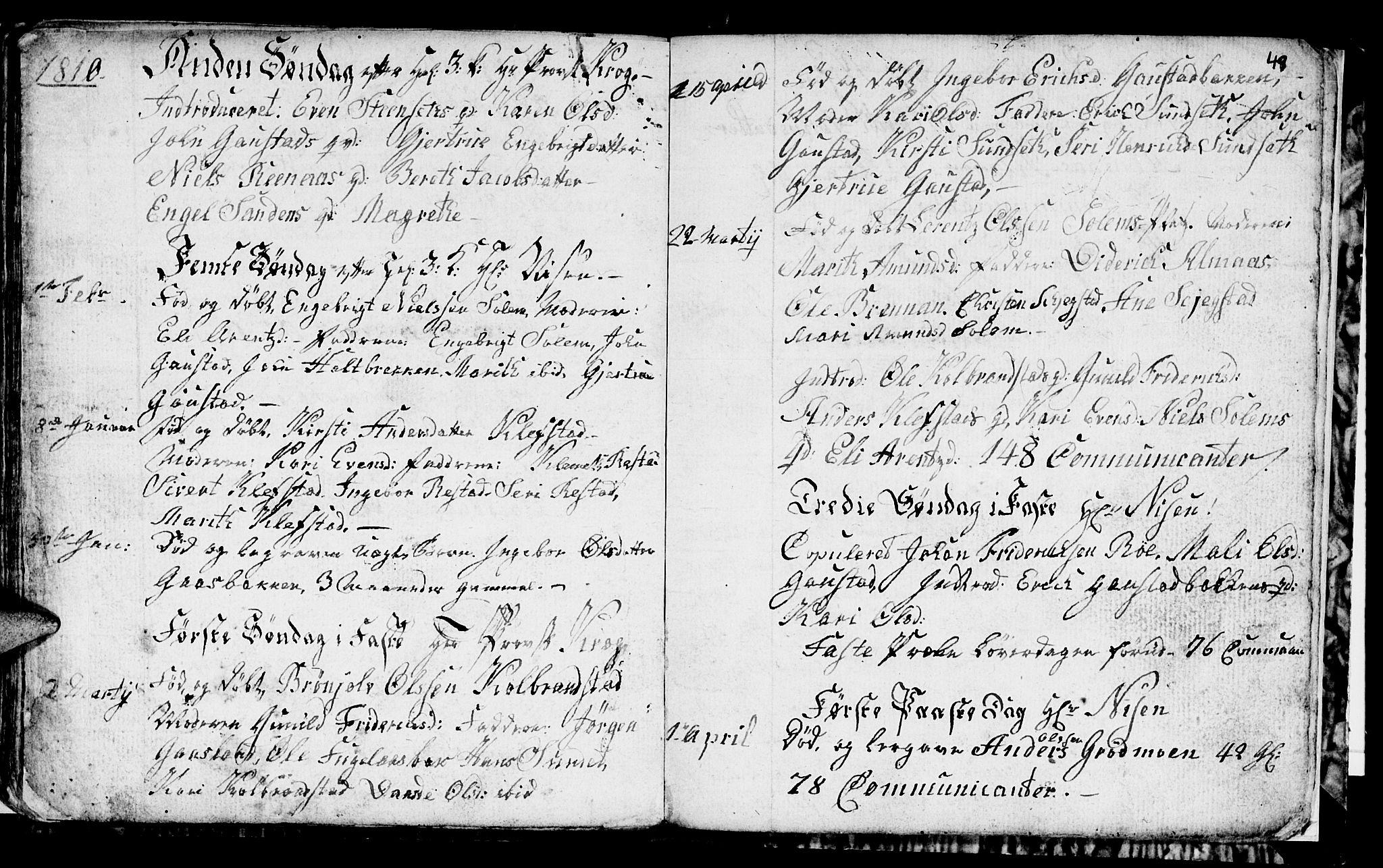 SAT, Ministerialprotokoller, klokkerbøker og fødselsregistre - Sør-Trøndelag, 694/L1129: Klokkerbok nr. 694C01, 1793-1815, s. 49