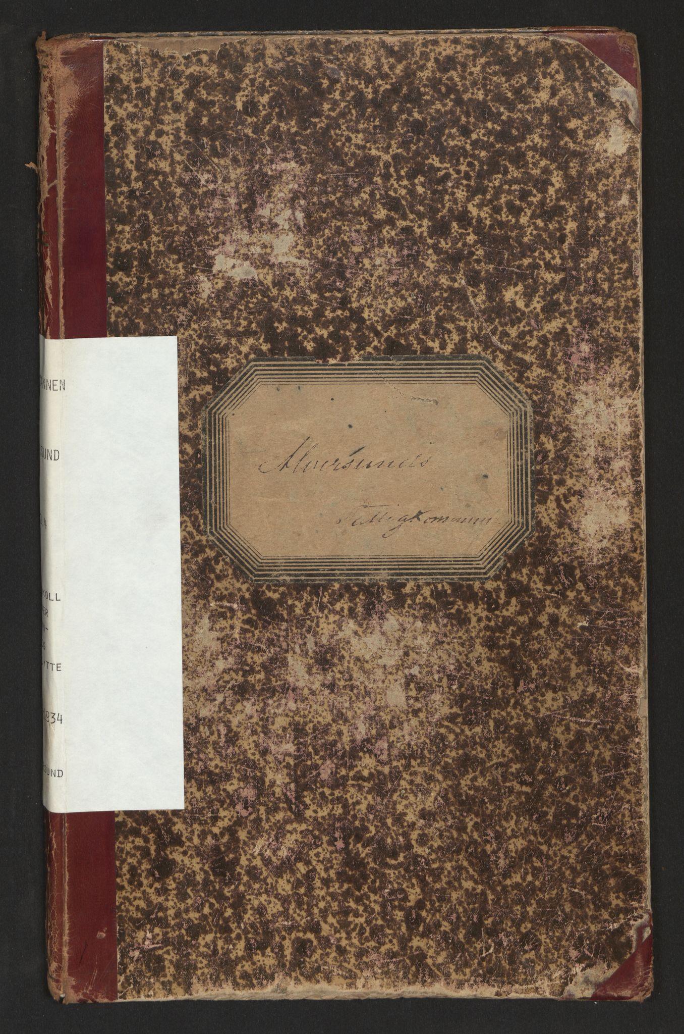 SAB, Lensmannen i Alversund, 0020/L0004: Protokoll over inn- og utflytte, Alversund, 1901-1934