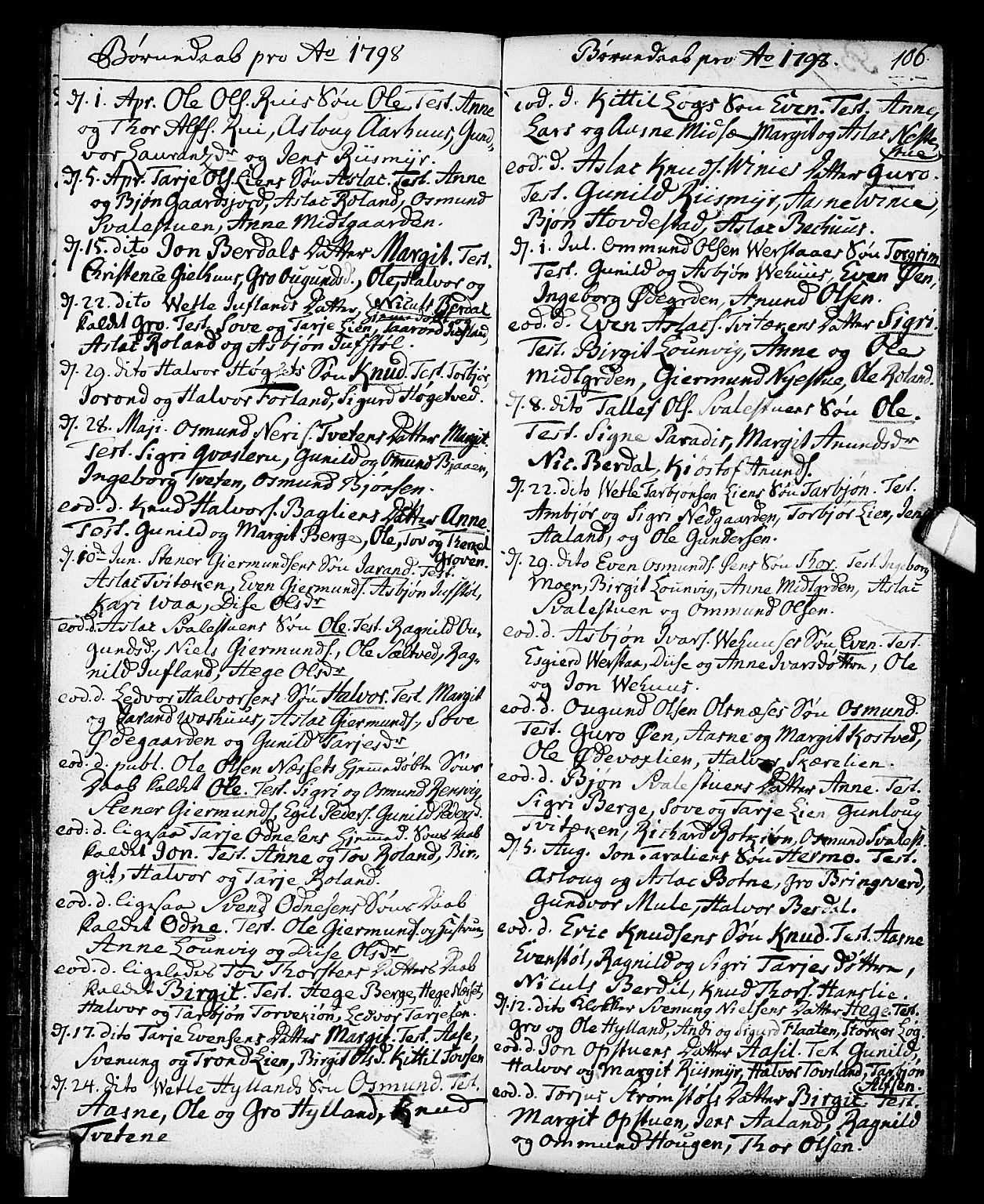 SAKO, Vinje kirkebøker, F/Fa/L0002: Ministerialbok nr. I 2, 1767-1814, s. 106