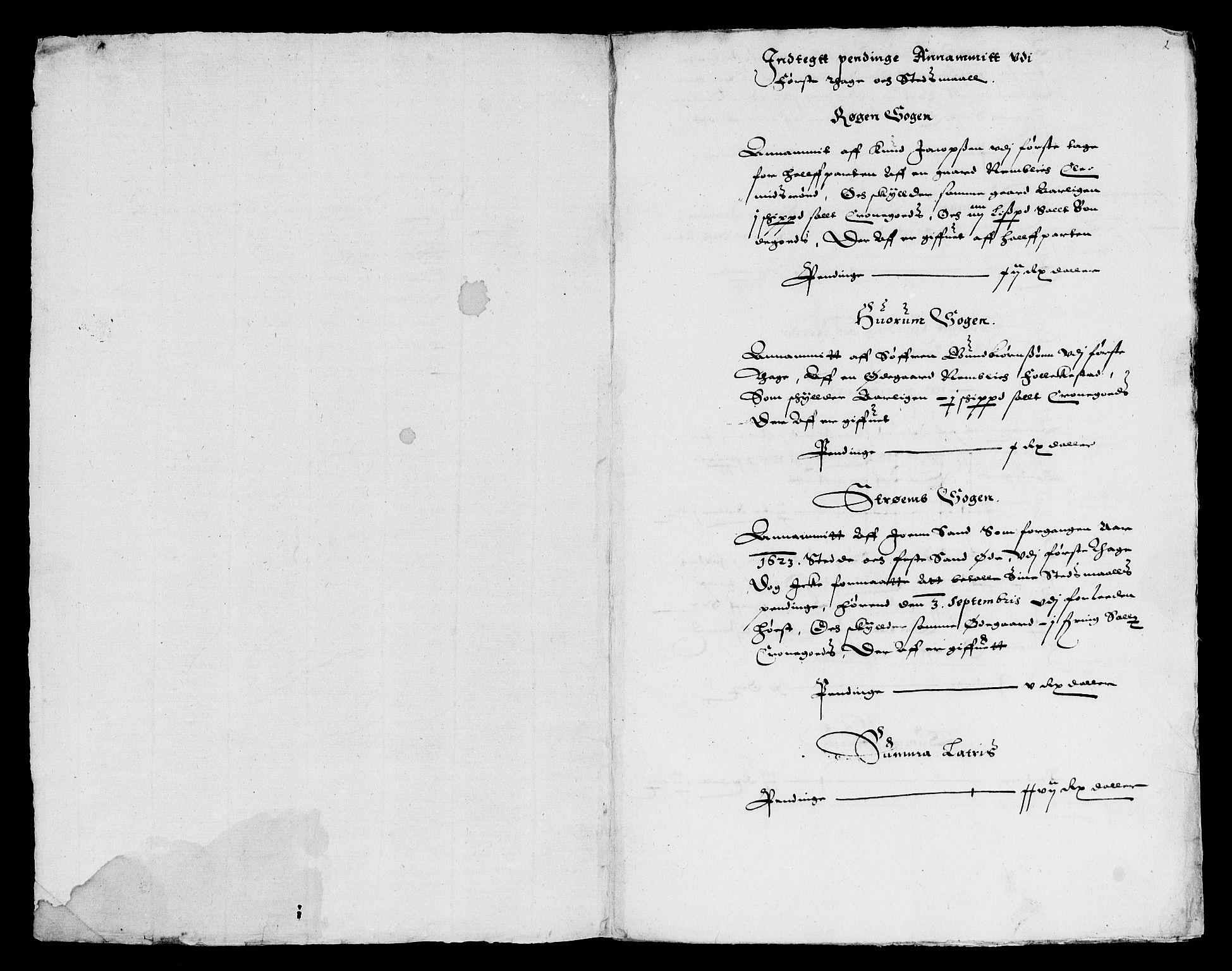 RA, Rentekammeret inntil 1814, Reviderte regnskaper, Lensregnskaper, R/Rb/Rba/L0069: Akershus len, 1624-1625