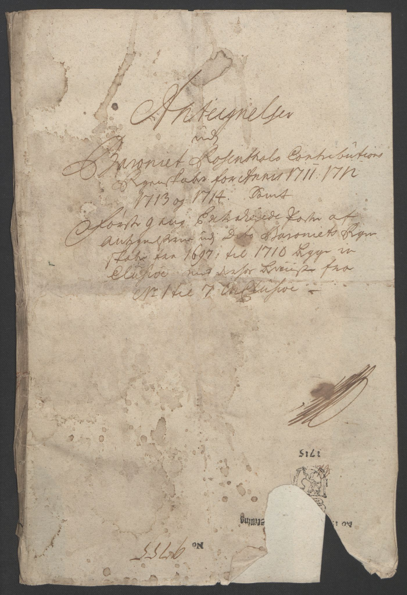 RA, Rentekammeret inntil 1814, Reviderte regnskaper, Fogderegnskap, R49/L3138: Fogderegnskap Rosendal Baroni, 1691-1714, s. 390