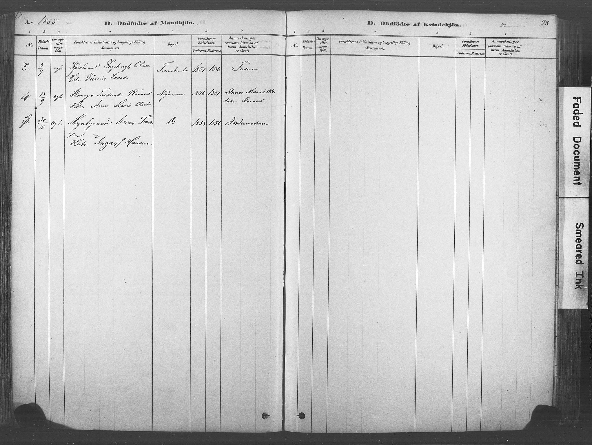 SAKO, Kongsberg kirkebøker, F/Fb/L0001: Ministerialbok nr. II 1, 1878-1886, s. 98
