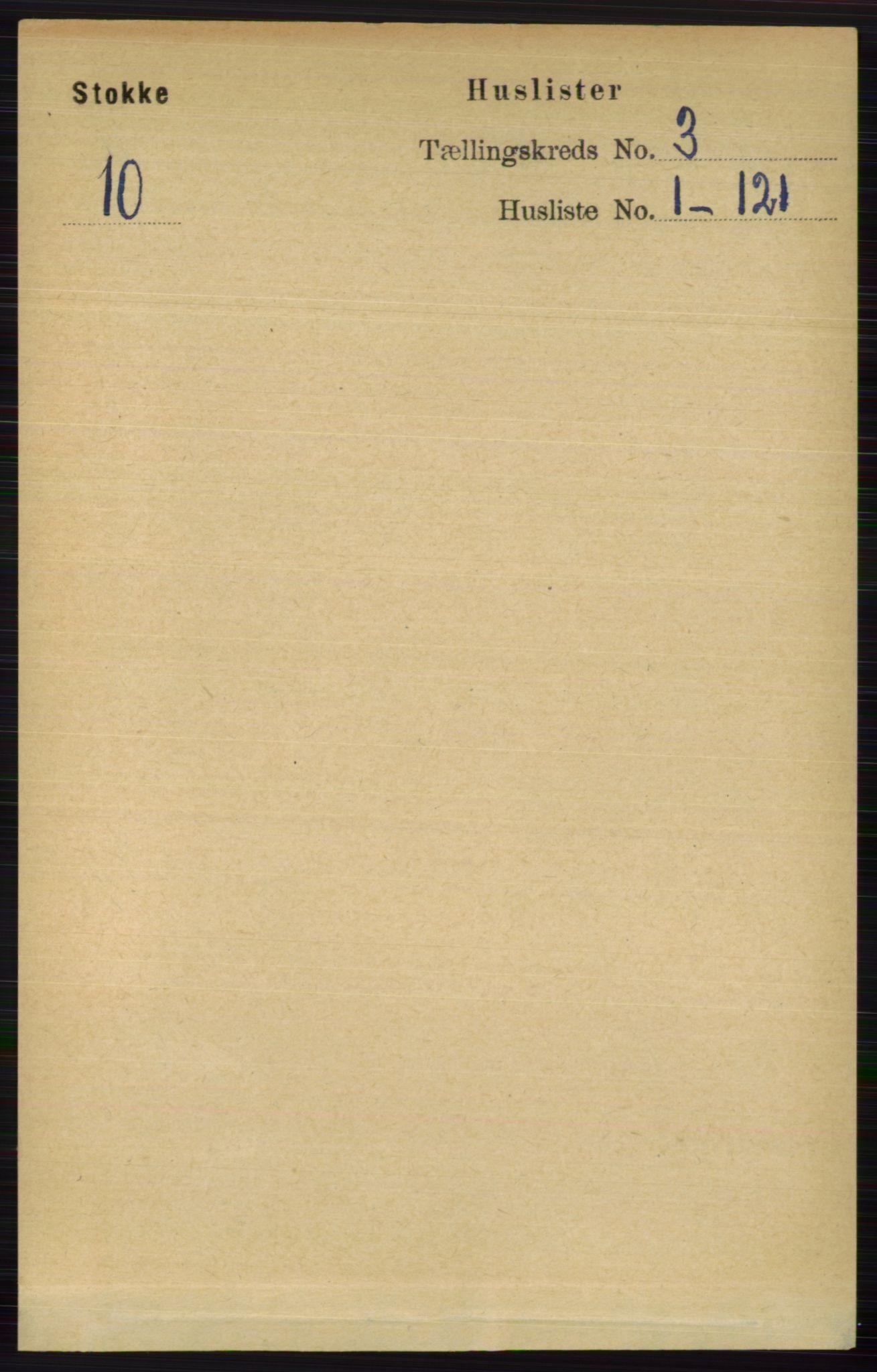 RA, Folketelling 1891 for 0720 Stokke herred, 1891, s. 1435