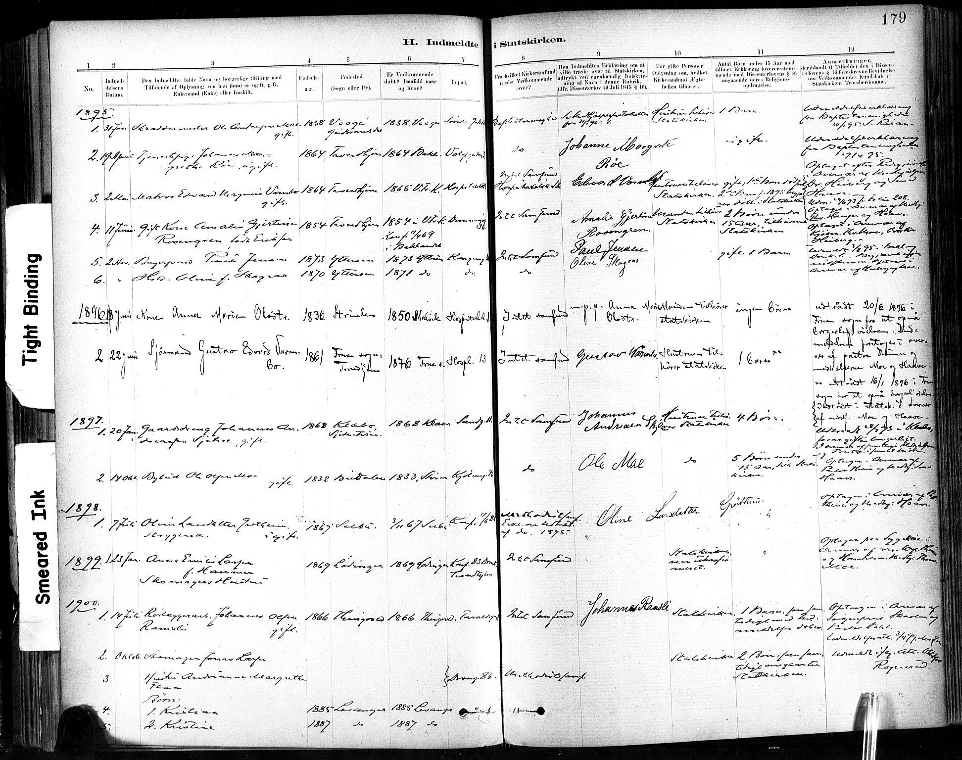 SAT, Ministerialprotokoller, klokkerbøker og fødselsregistre - Sør-Trøndelag, 602/L0120: Ministerialbok nr. 602A18, 1880-1913, s. 179