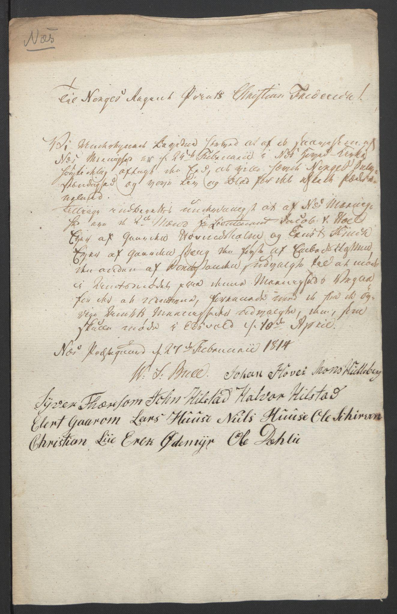 RA, Statsrådssekretariatet, D/Db/L0007: Fullmakter for Eidsvollsrepresentantene i 1814. , 1814, s. 228