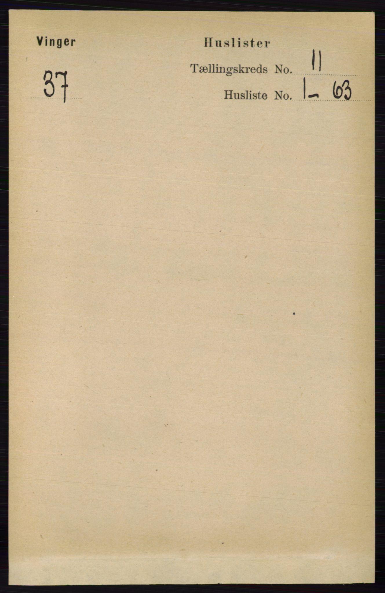 RA, Folketelling 1891 for 0421 Vinger herred, 1891, s. 5281