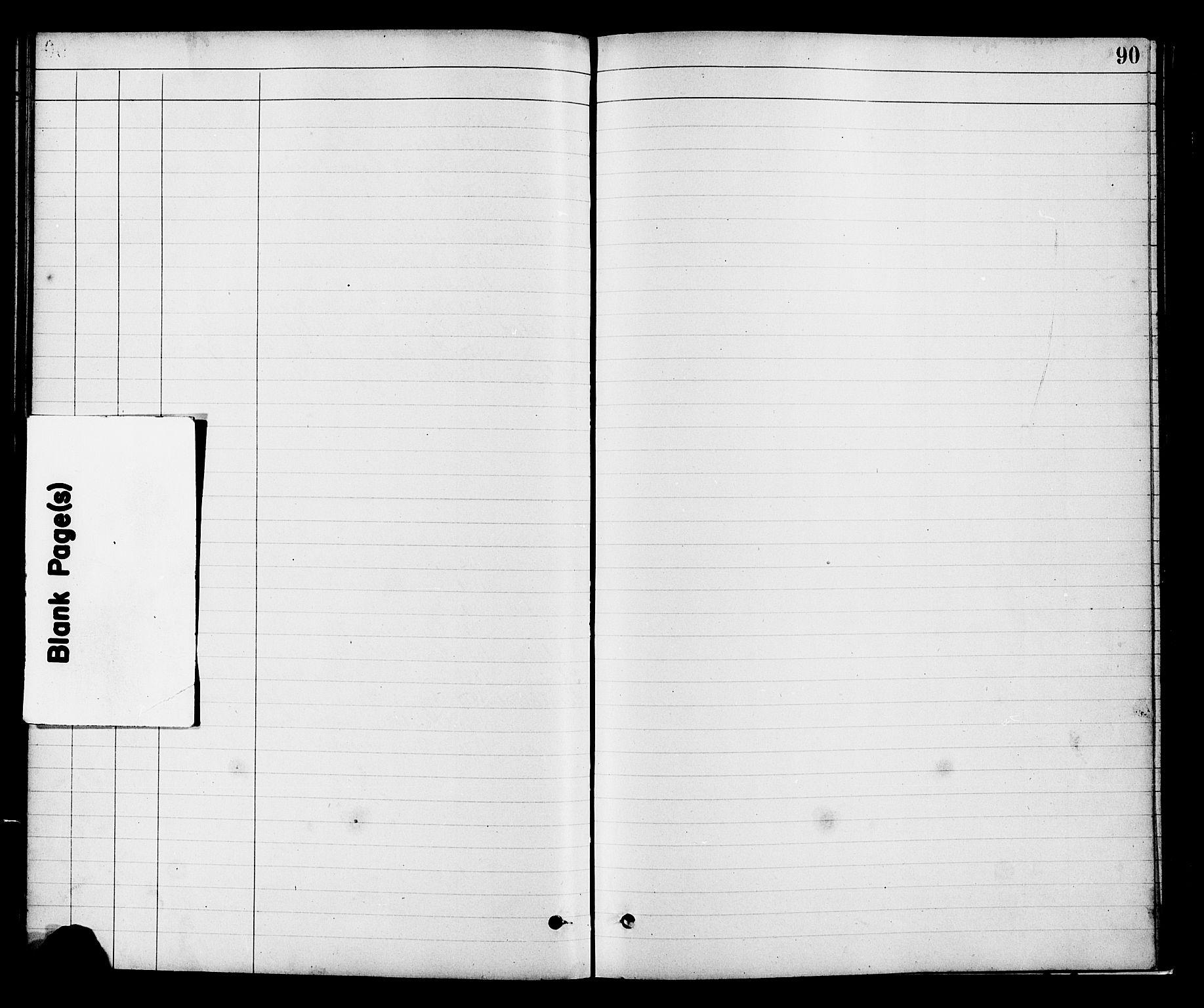 SAH, Vestre Toten prestekontor, H/Ha/Hab/L0008: Klokkerbok nr. 8, 1885-1900, s. 90