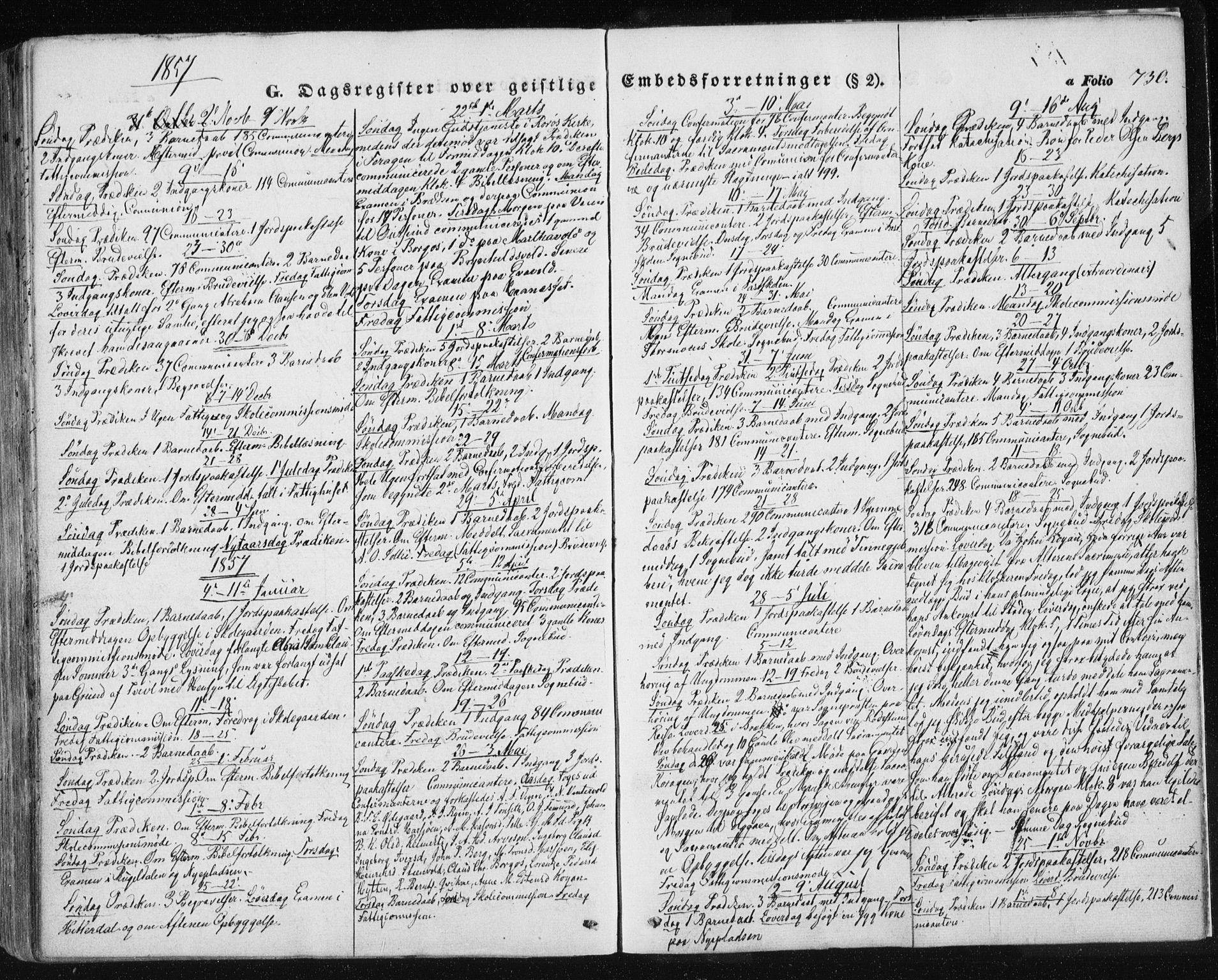 SAT, Ministerialprotokoller, klokkerbøker og fødselsregistre - Sør-Trøndelag, 681/L0931: Ministerialbok nr. 681A09, 1845-1859, s. 730