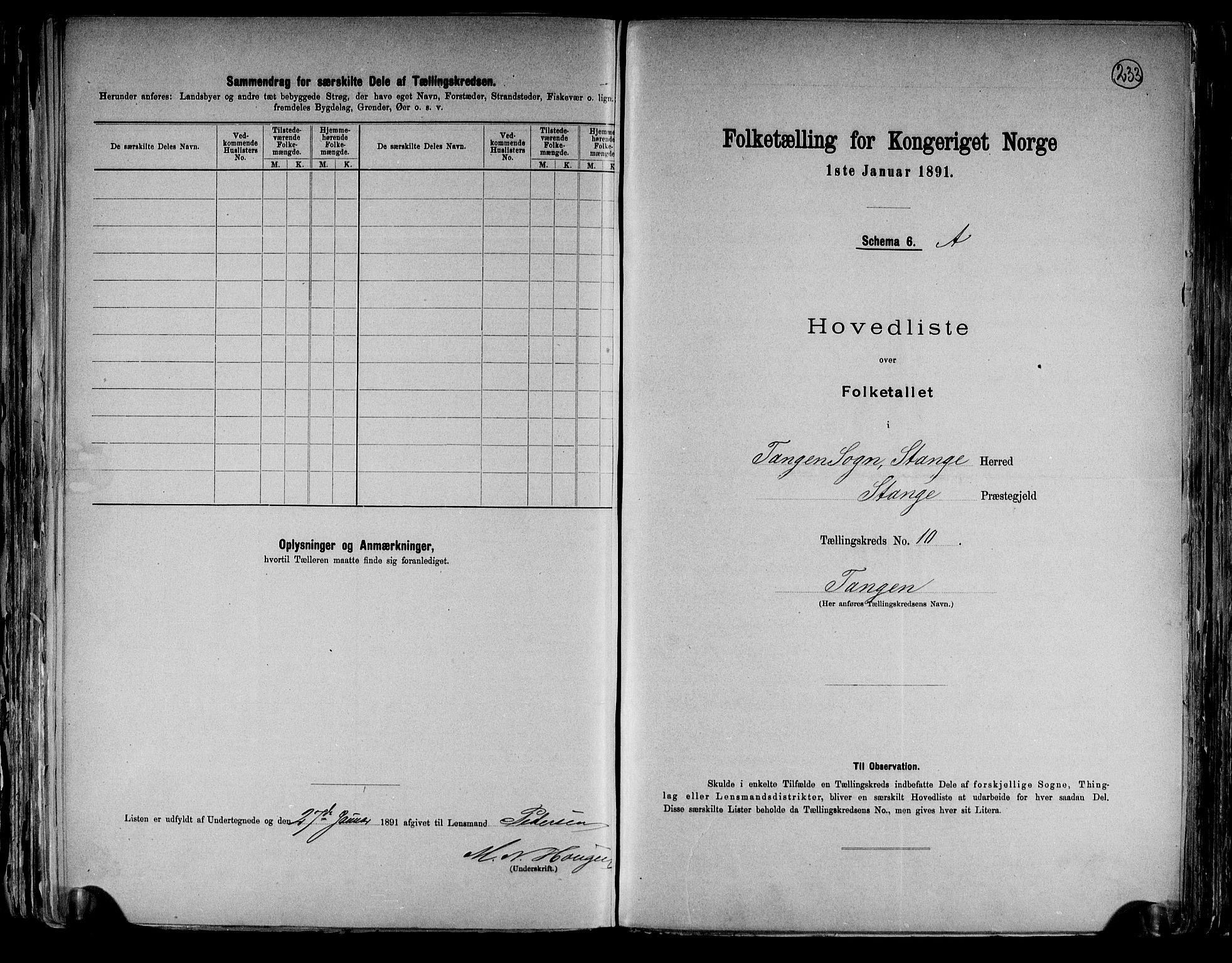 RA, Folketelling 1891 for 0417 Stange herred, 1891, s. 34