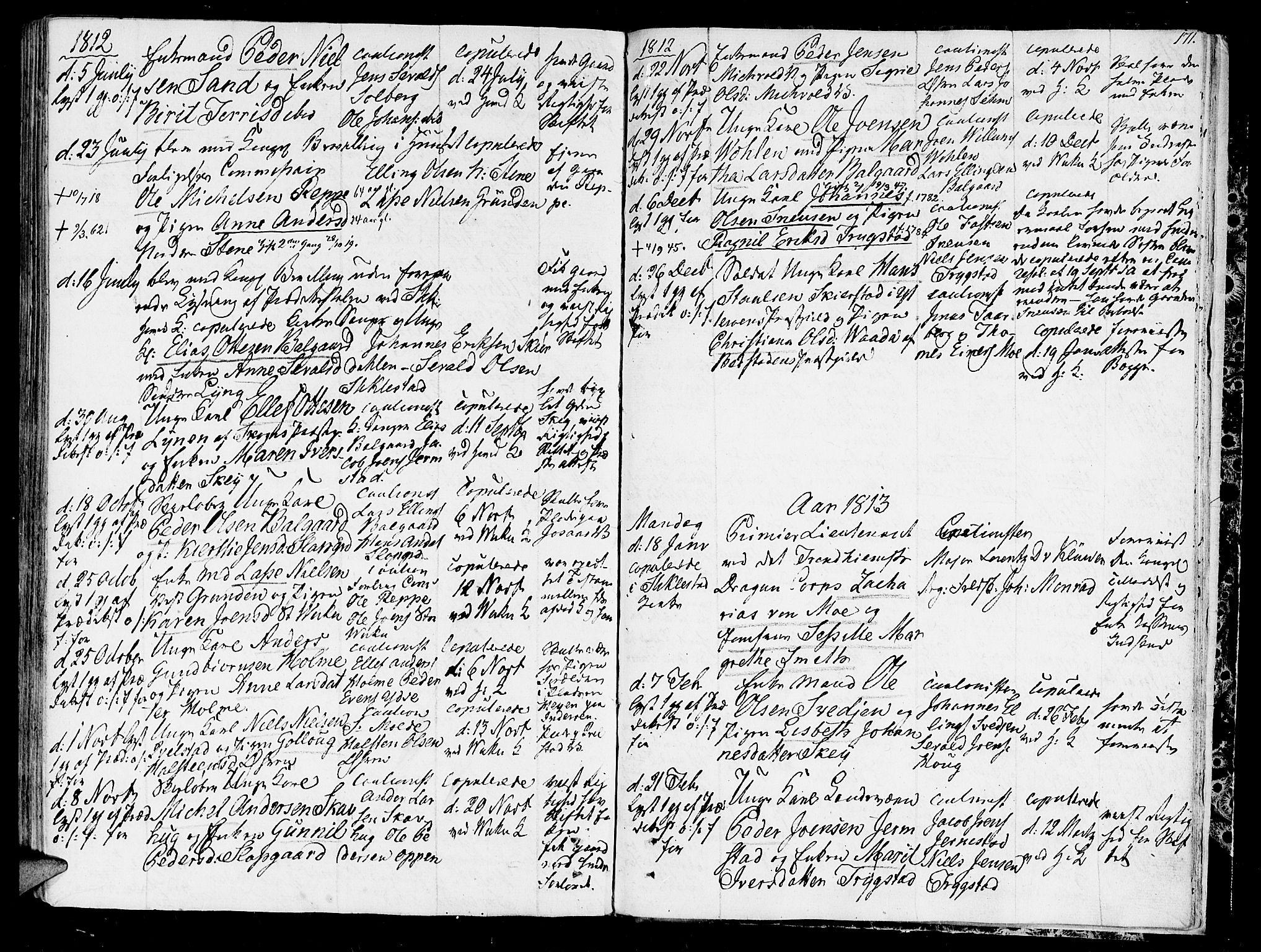 SAT, Ministerialprotokoller, klokkerbøker og fødselsregistre - Nord-Trøndelag, 723/L0233: Ministerialbok nr. 723A04, 1805-1816, s. 171