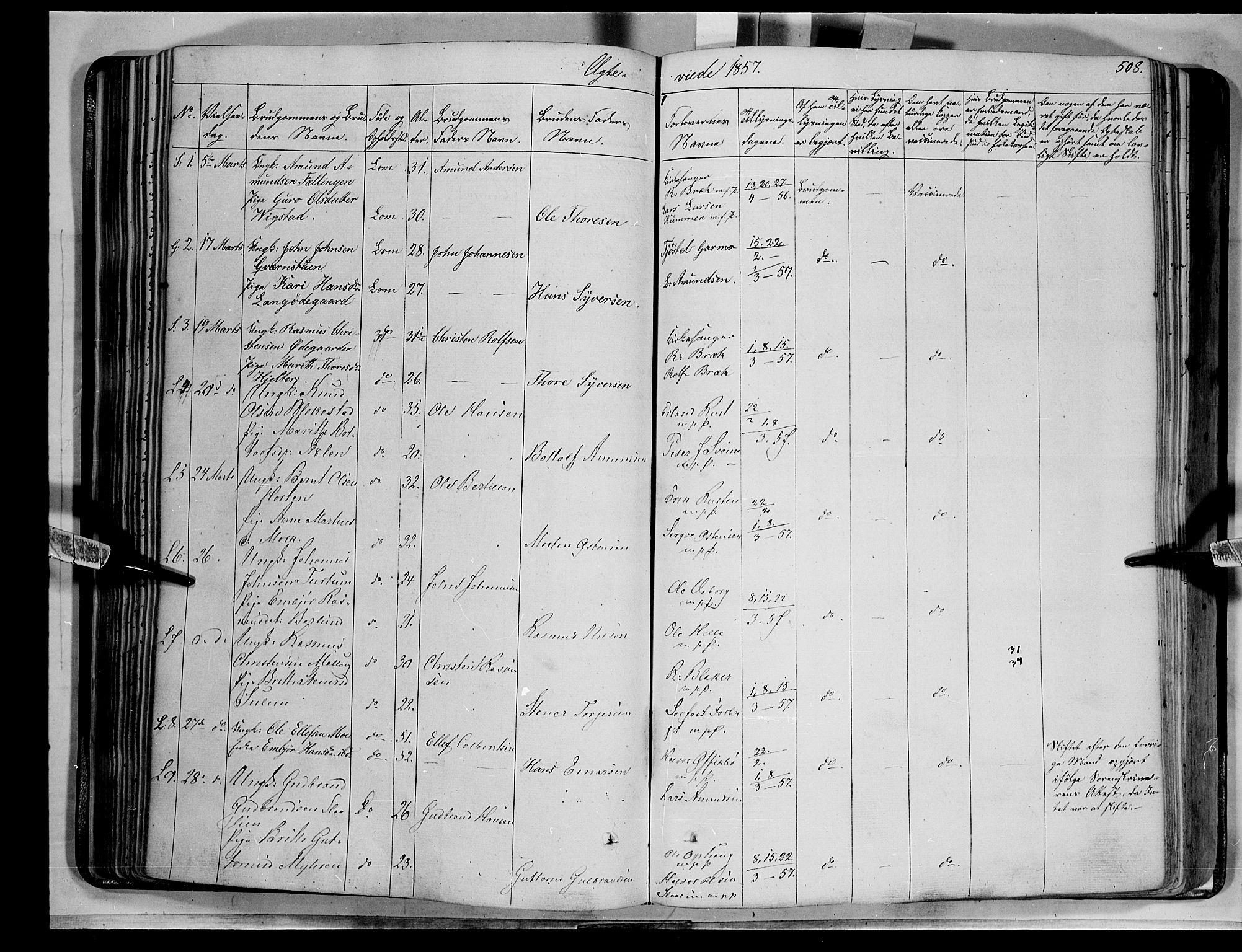 SAH, Lom prestekontor, K/L0006: Ministerialbok nr. 6B, 1837-1863, s. 508