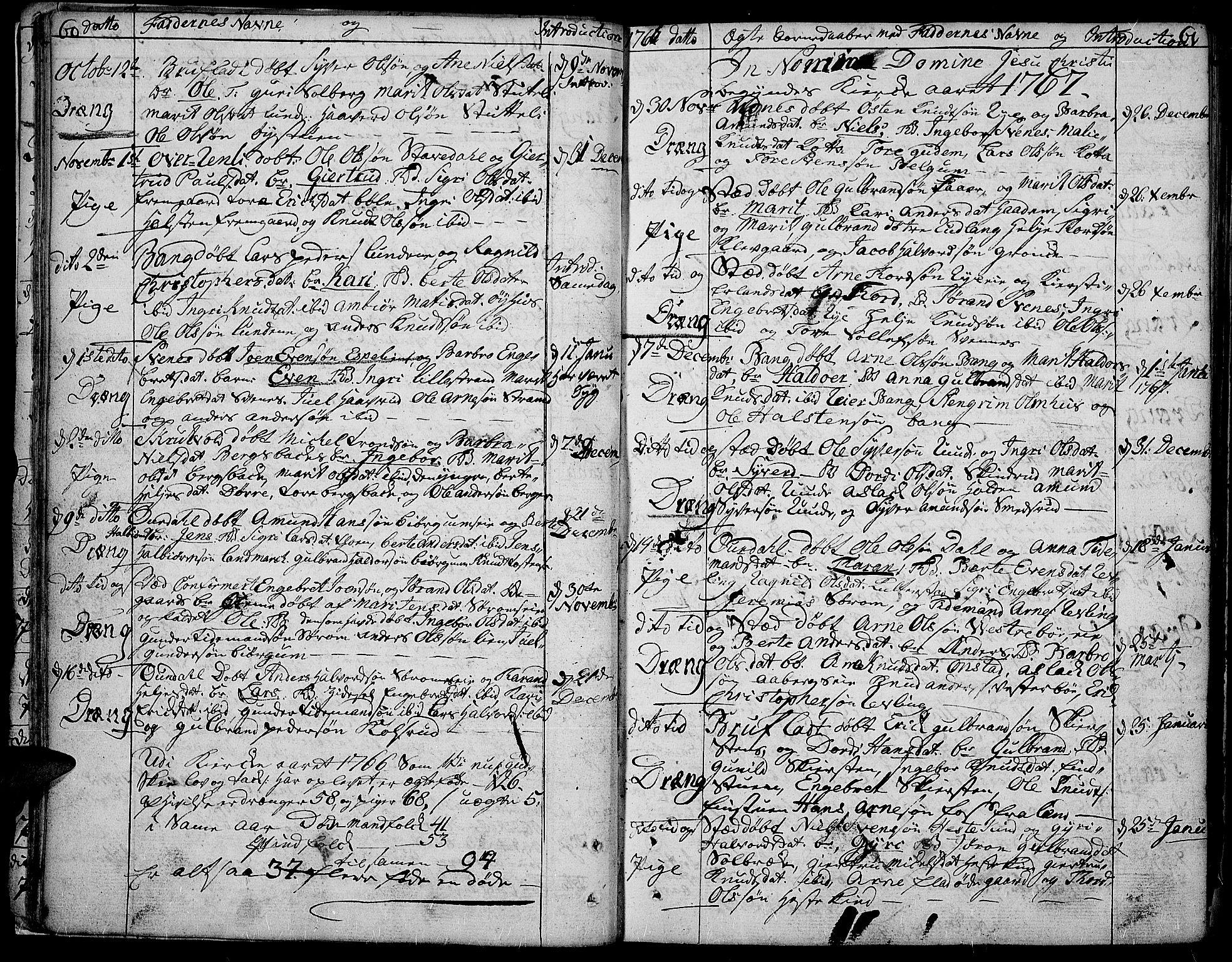 SAH, Aurdal prestekontor, Ministerialbok nr. 5, 1763-1781, s. 60-61