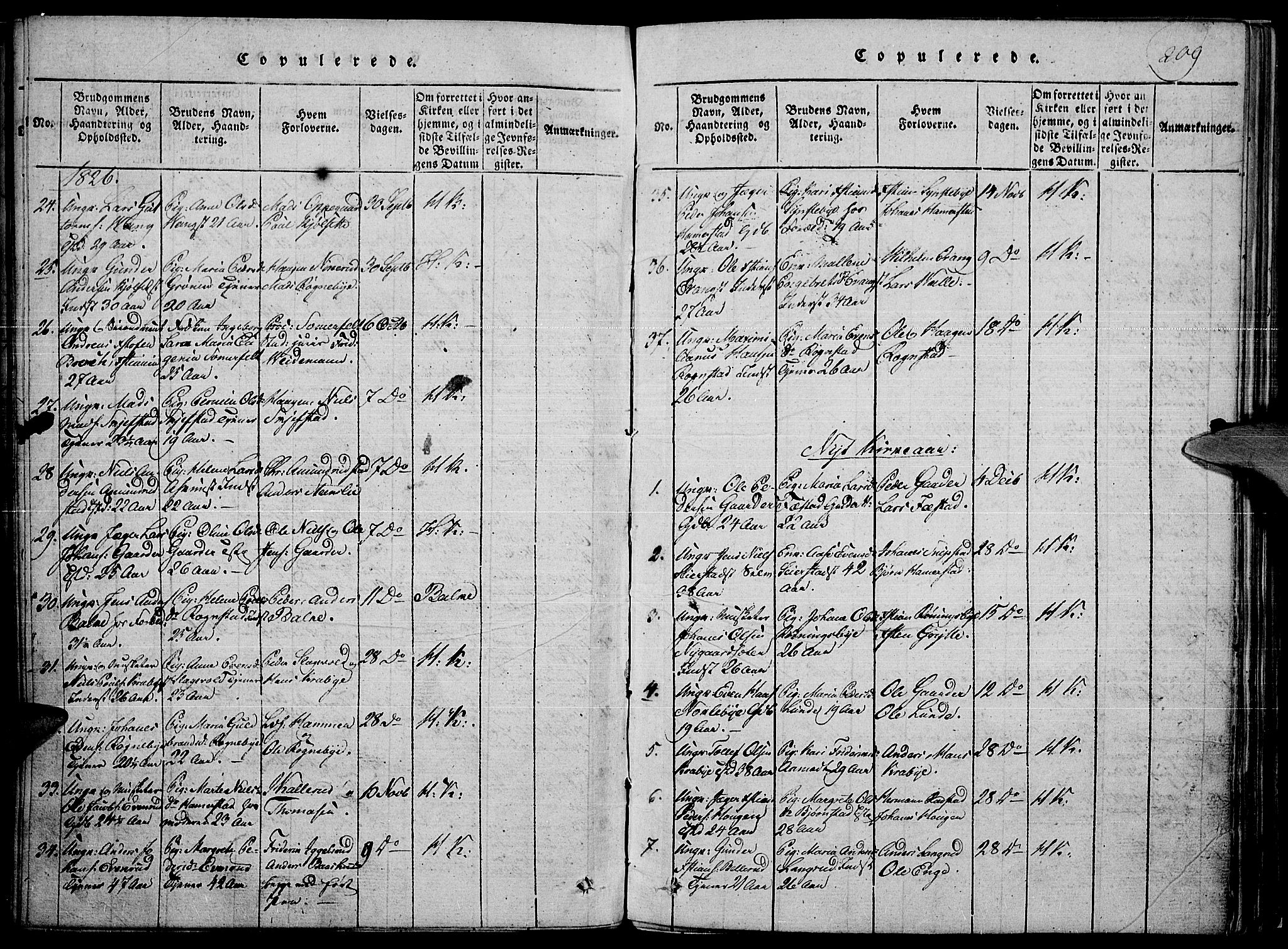 SAH, Toten prestekontor, Ministerialbok nr. 10, 1820-1828, s. 209