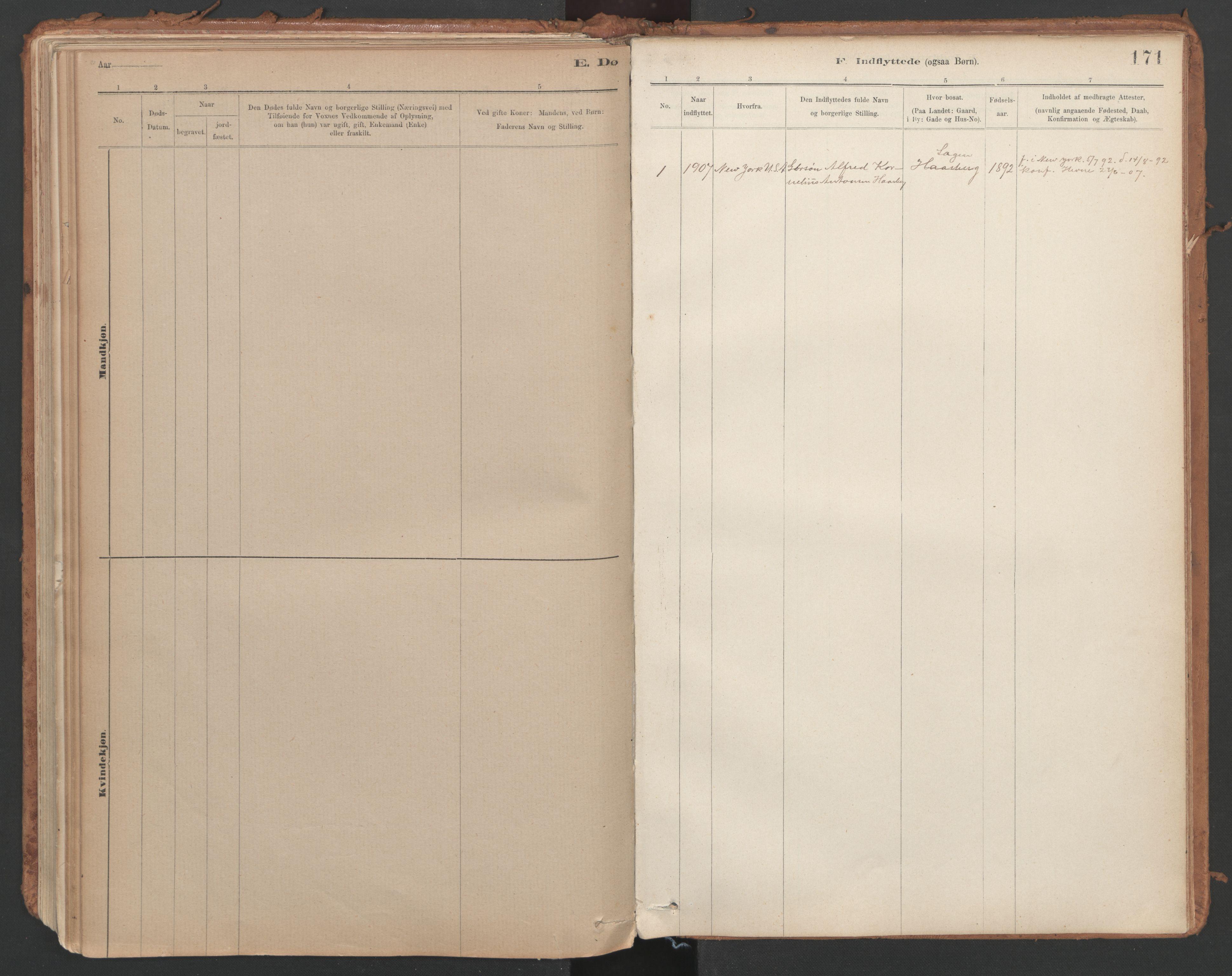 SAT, Ministerialprotokoller, klokkerbøker og fødselsregistre - Sør-Trøndelag, 639/L0572: Ministerialbok nr. 639A01, 1890-1920, s. 171