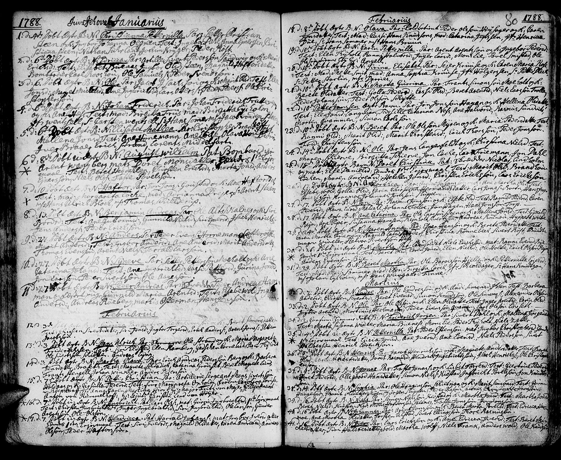 SAT, Ministerialprotokoller, klokkerbøker og fødselsregistre - Sør-Trøndelag, 601/L0039: Ministerialbok nr. 601A07, 1770-1819, s. 80