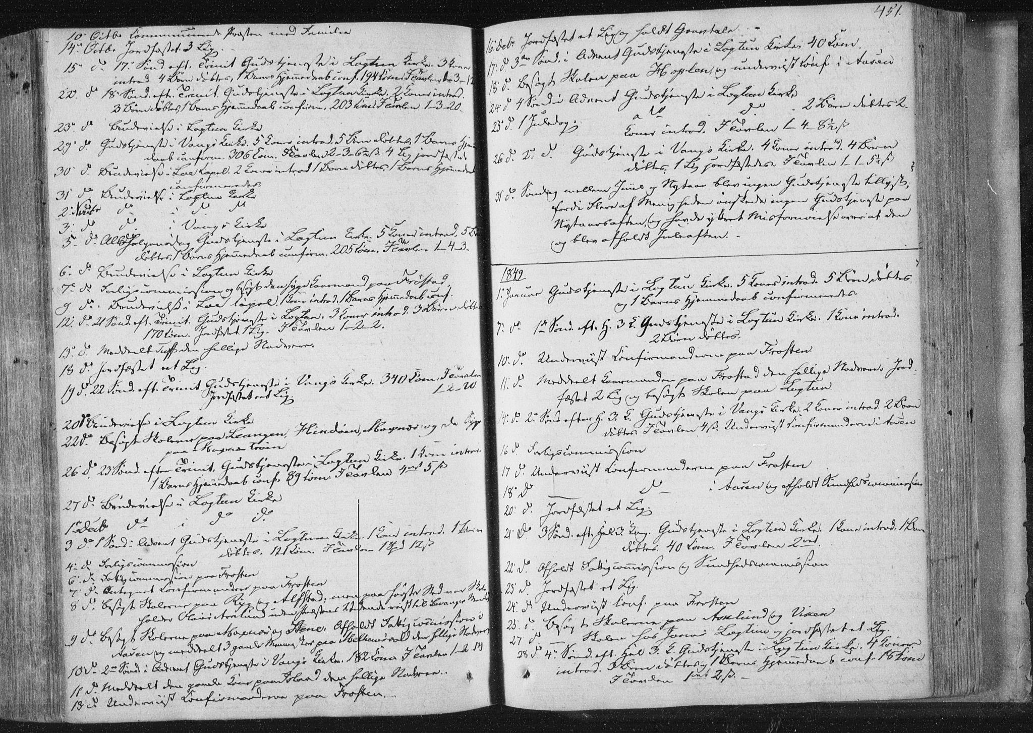 SAT, Ministerialprotokoller, klokkerbøker og fødselsregistre - Nord-Trøndelag, 713/L0115: Ministerialbok nr. 713A06, 1838-1851, s. 451