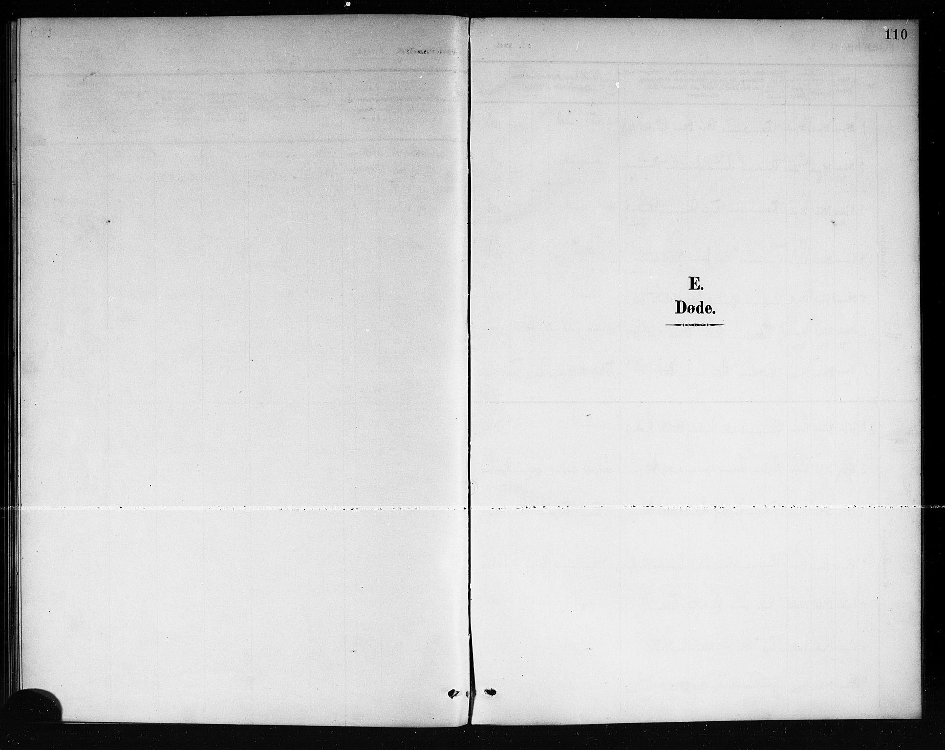 SAKO, Mo kirkebøker, G/Ga/L0002: Klokkerbok nr. I 2, 1892-1914, s. 110