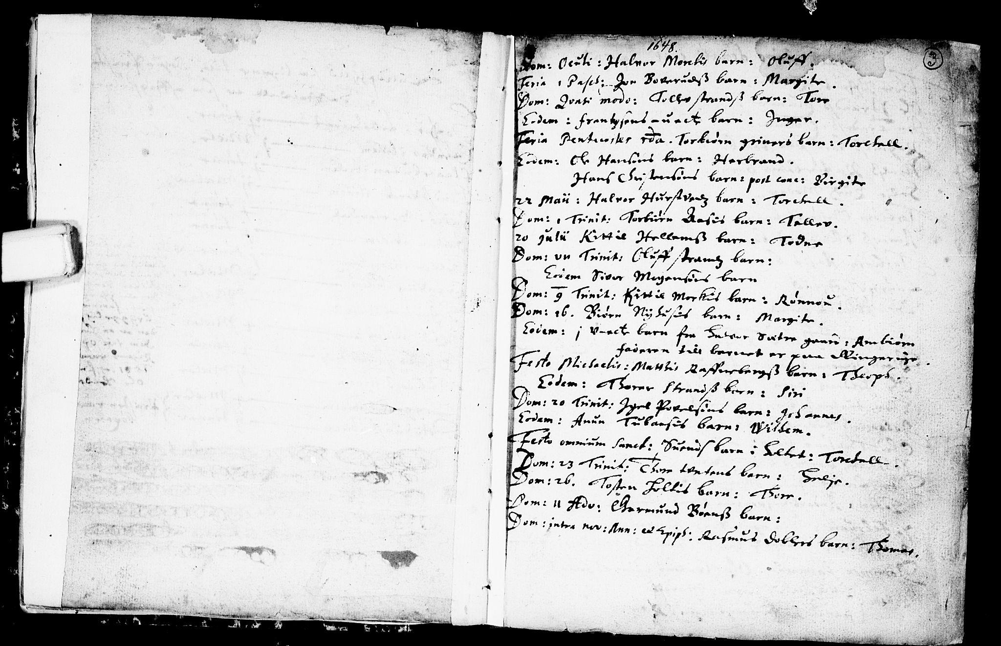 SAKO, Heddal kirkebøker, F/Fa/L0001: Ministerialbok nr. I 1, 1648-1699, s. 3