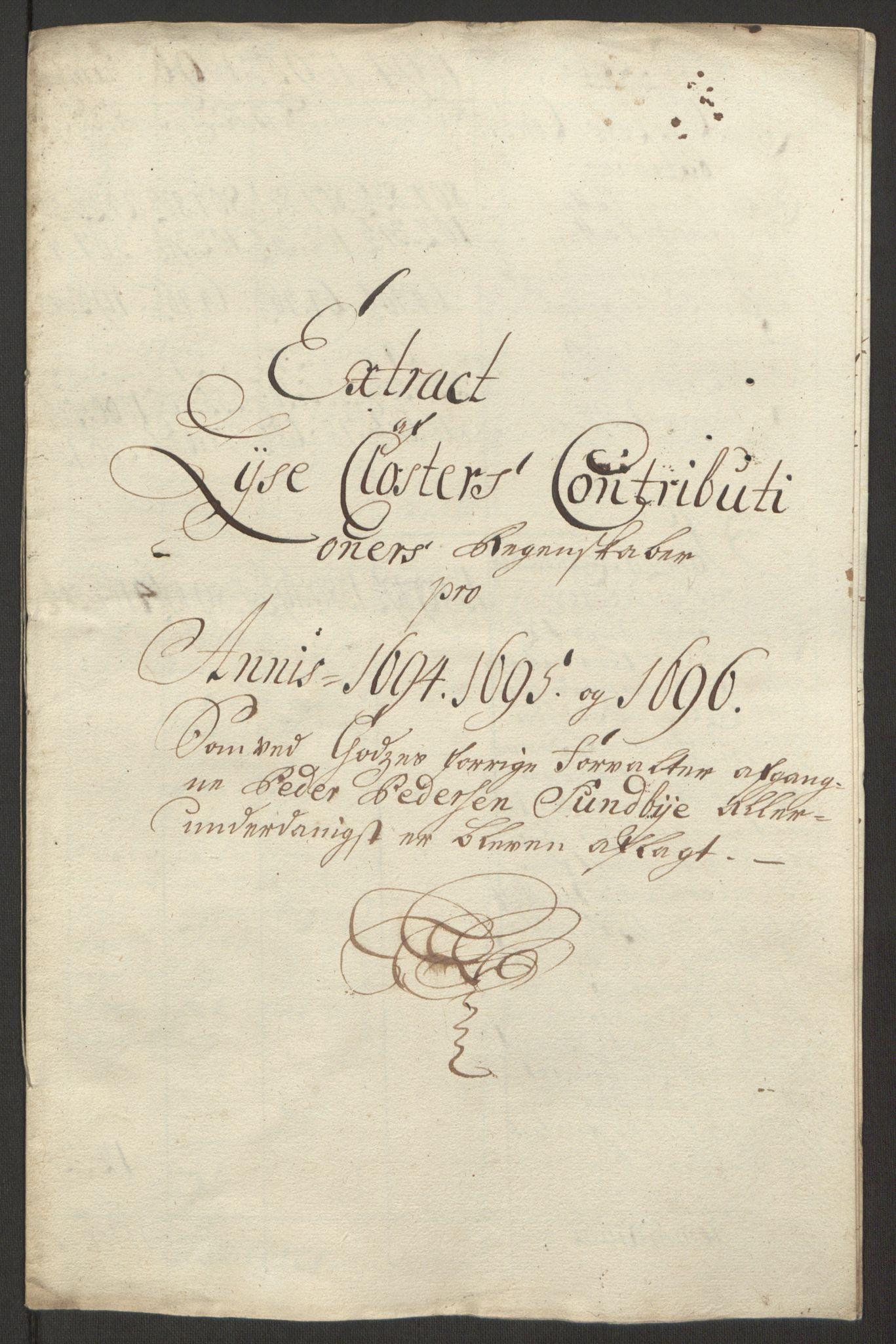 RA, Rentekammeret inntil 1814, Reviderte regnskaper, Fogderegnskap, R50/L3159: Fogderegnskap Lyse kloster, 1691-1709, s. 60