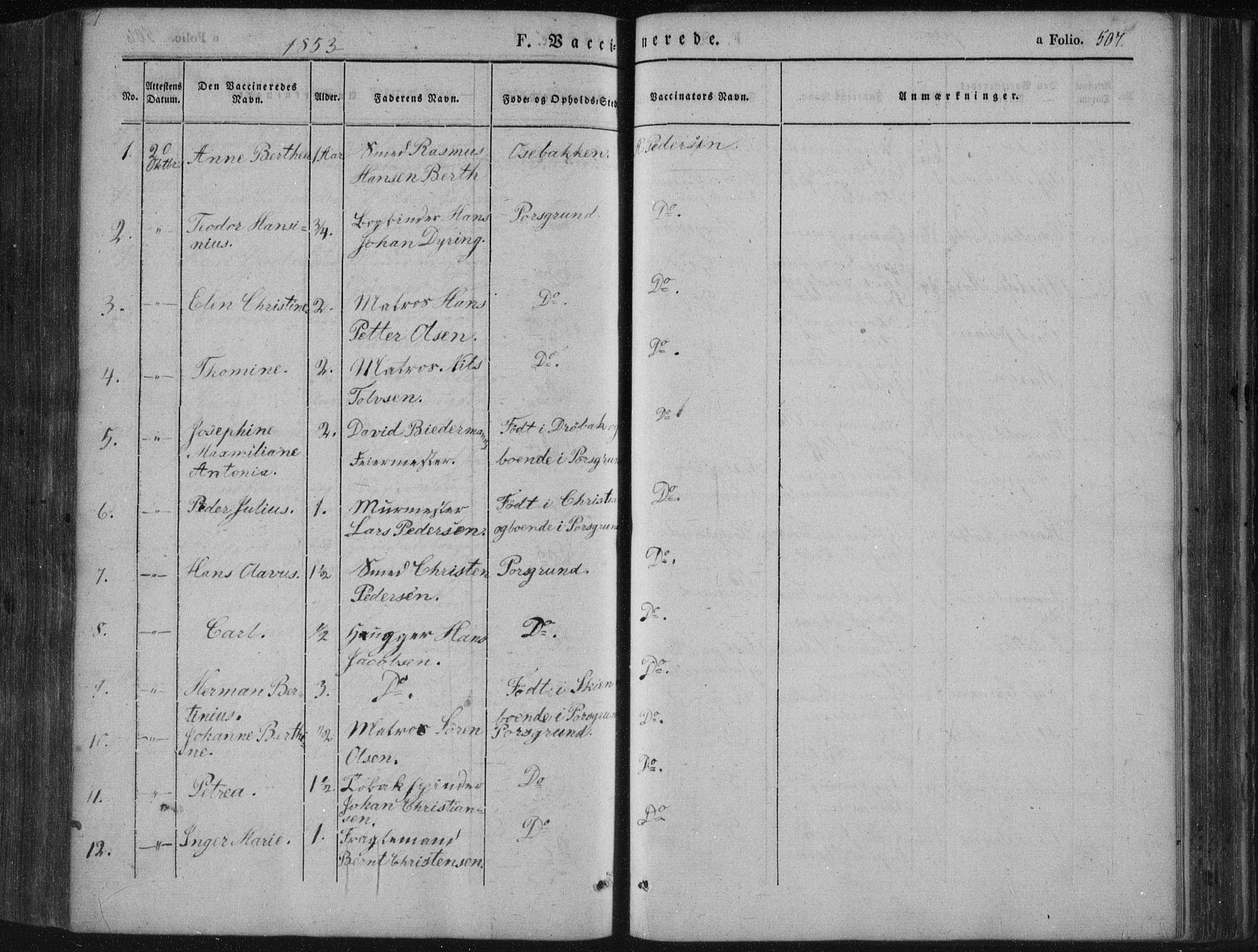 SAKO, Porsgrunn kirkebøker , F/Fa/L0006: Ministerialbok nr. 6, 1841-1857, s. 507