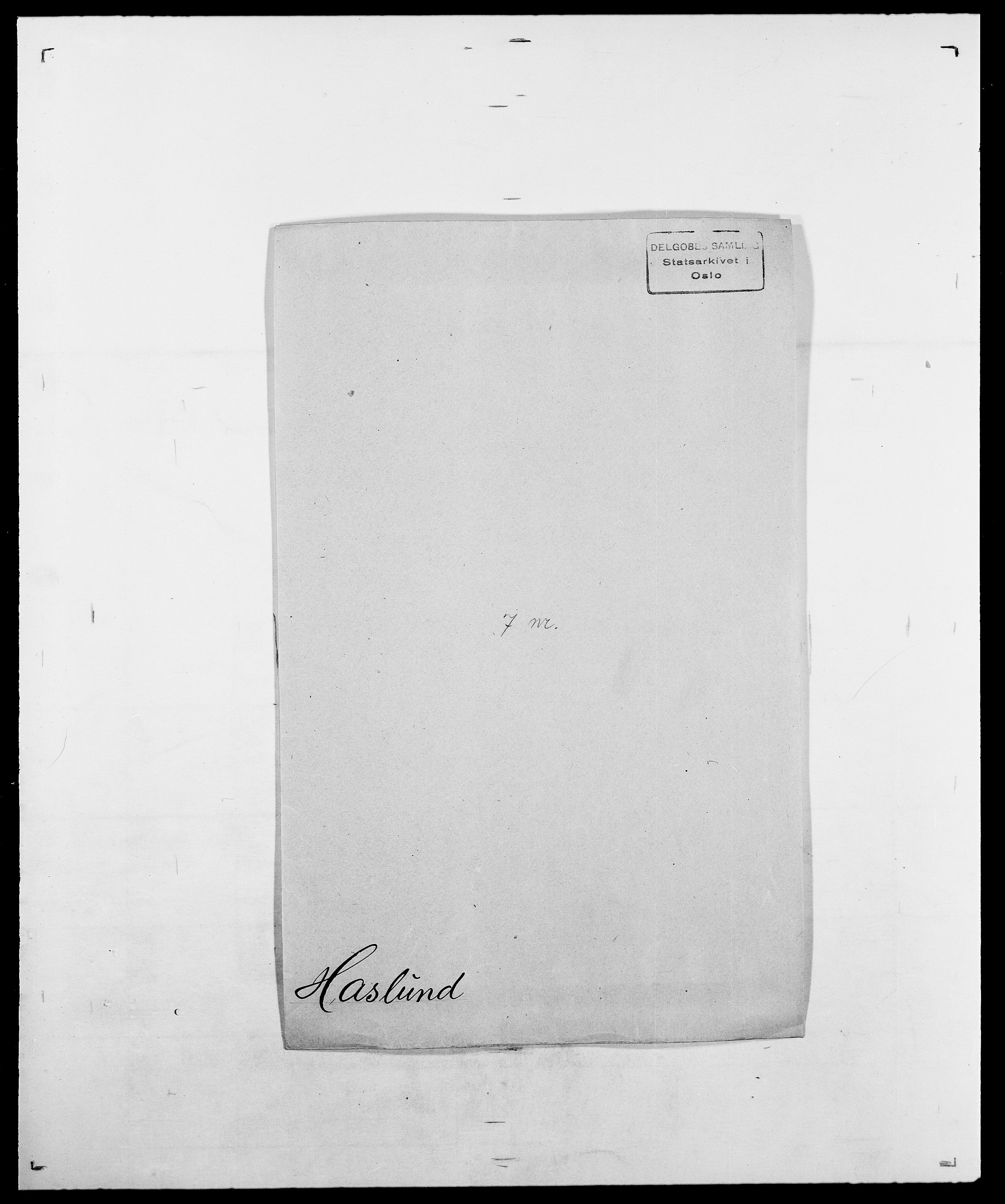 SAO, Delgobe, Charles Antoine - samling, D/Da/L0016: Hamborg - Hektoen, s. 487