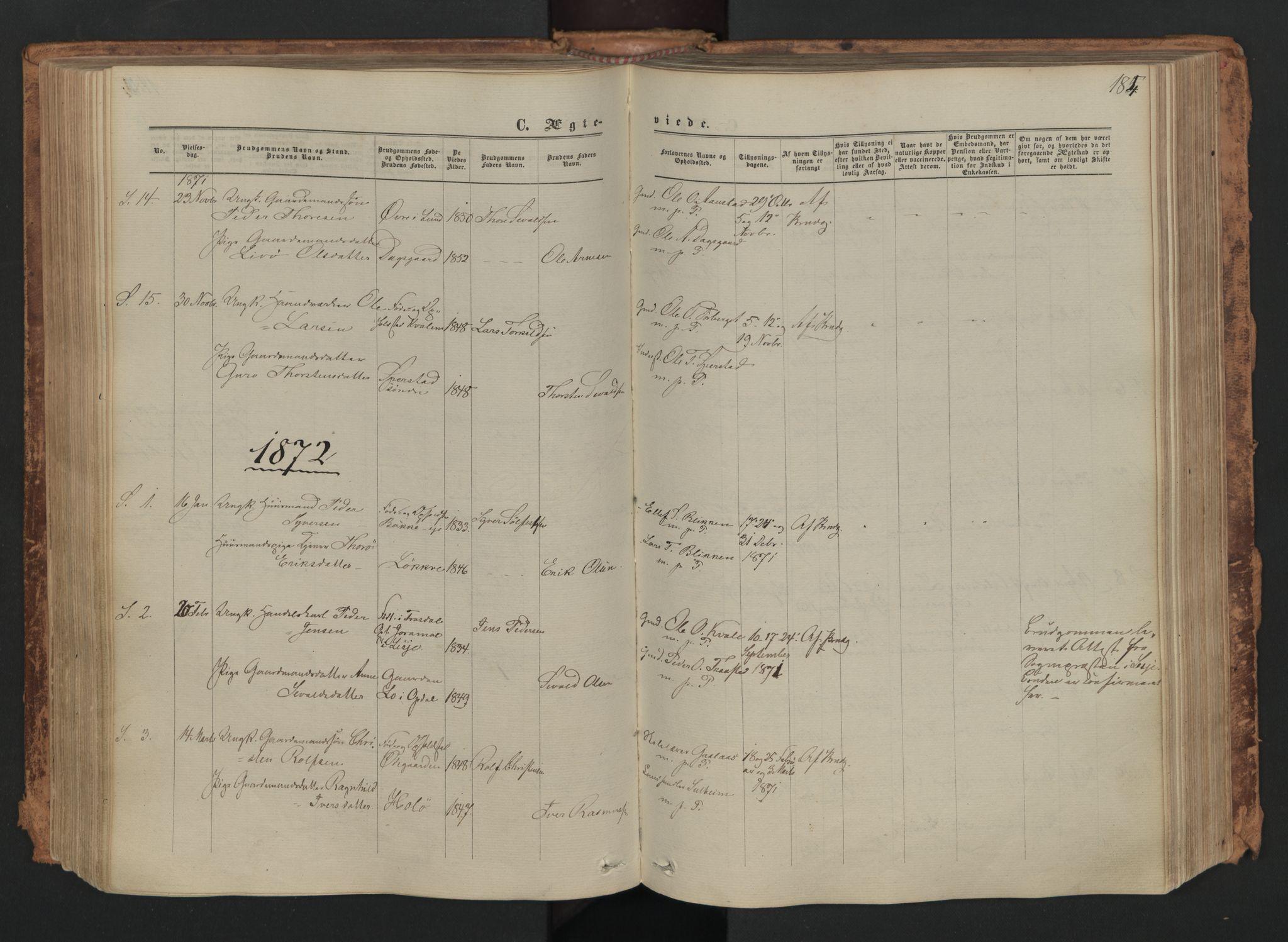 SAH, Skjåk prestekontor, Ministerialbok nr. 1, 1863-1879, s. 184