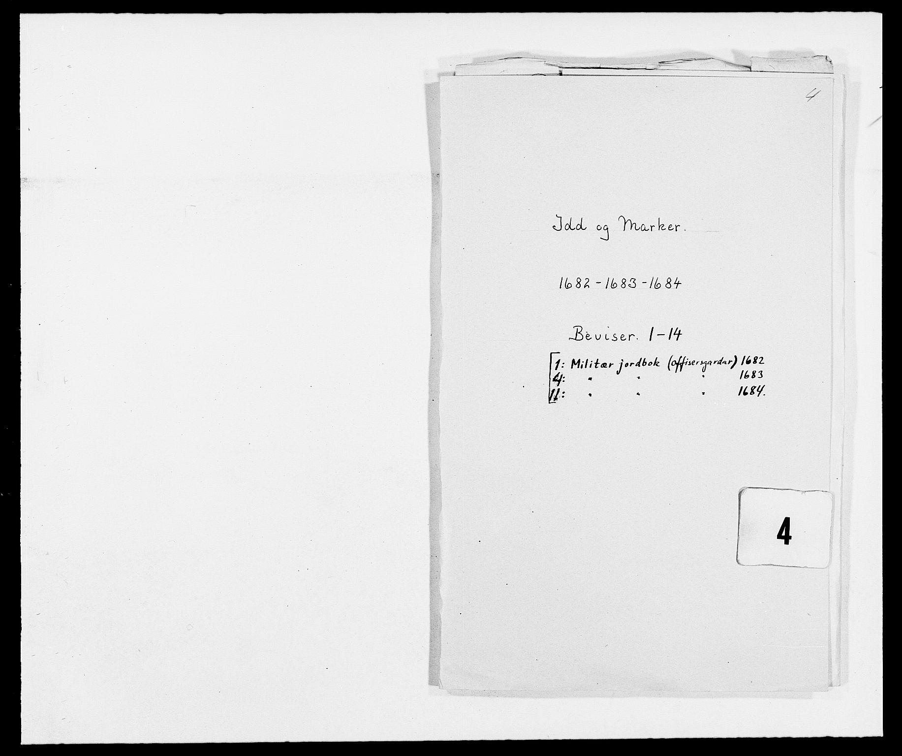 RA, Rentekammeret inntil 1814, Reviderte regnskaper, Fogderegnskap, R01/L0005: Fogderegnskap Idd og Marker , 1682-1684, s. 214