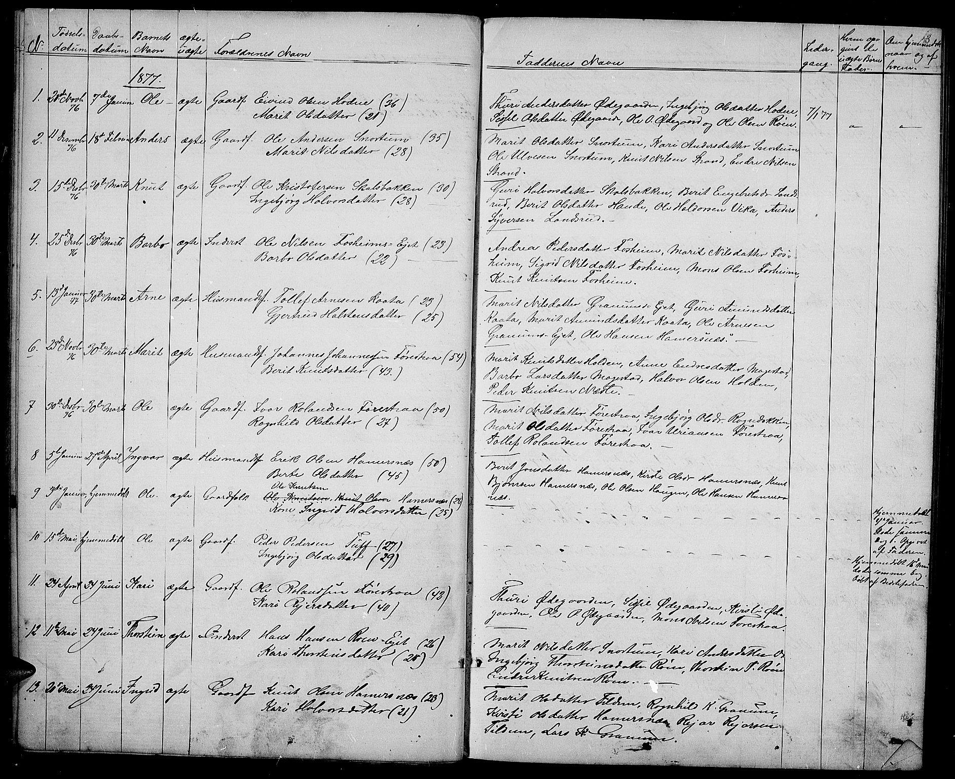 SAH, Vestre Slidre prestekontor, Klokkerbok nr. 3, 1869-1882, s. 18