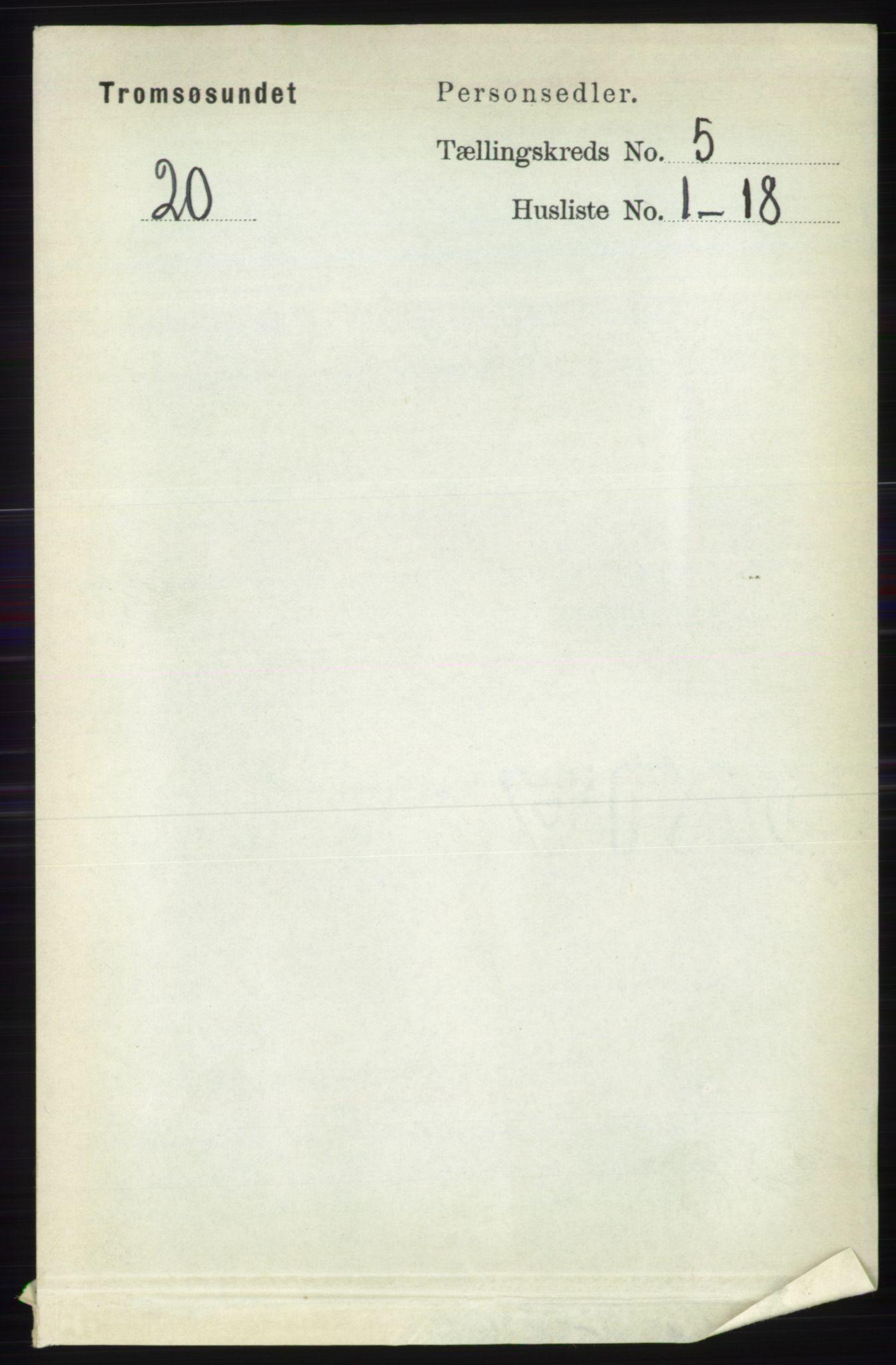 RA, Folketelling 1891 for 1934 Tromsøysund herred, 1891, s. 2323