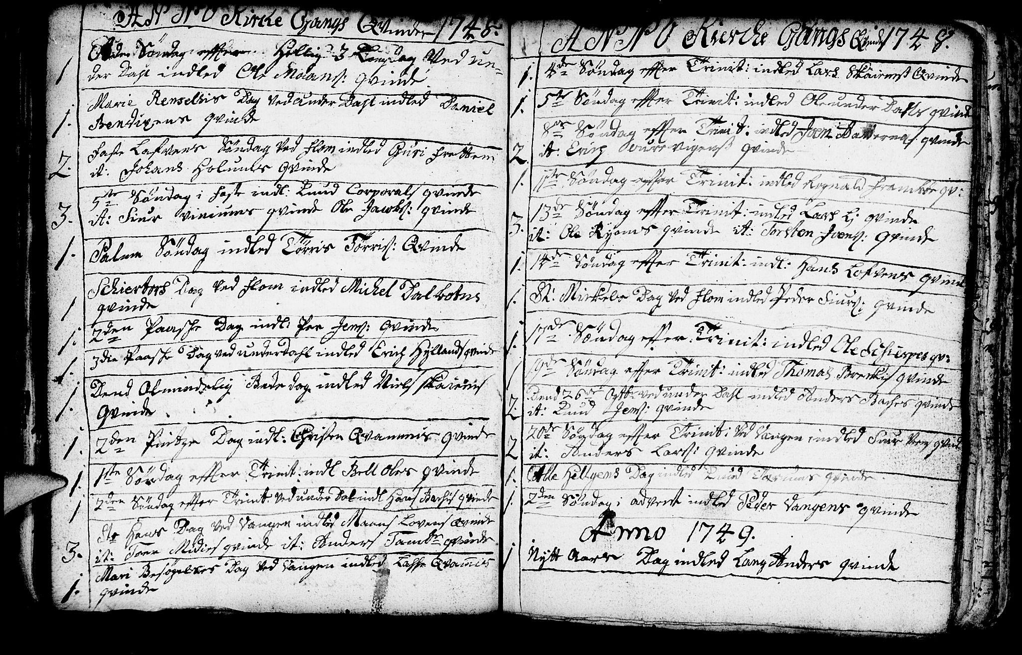 SAB, Aurland Sokneprestembete*, Ministerialbok nr. A 3, 1735-1761, s. 147