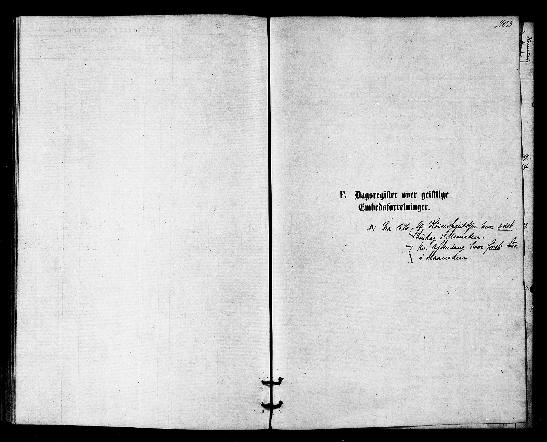 SATØ, Sør-Varanger sokneprestkontor, H/Ha/L0002kirke: Ministerialbok nr. 2, 1873-1877, s. 203