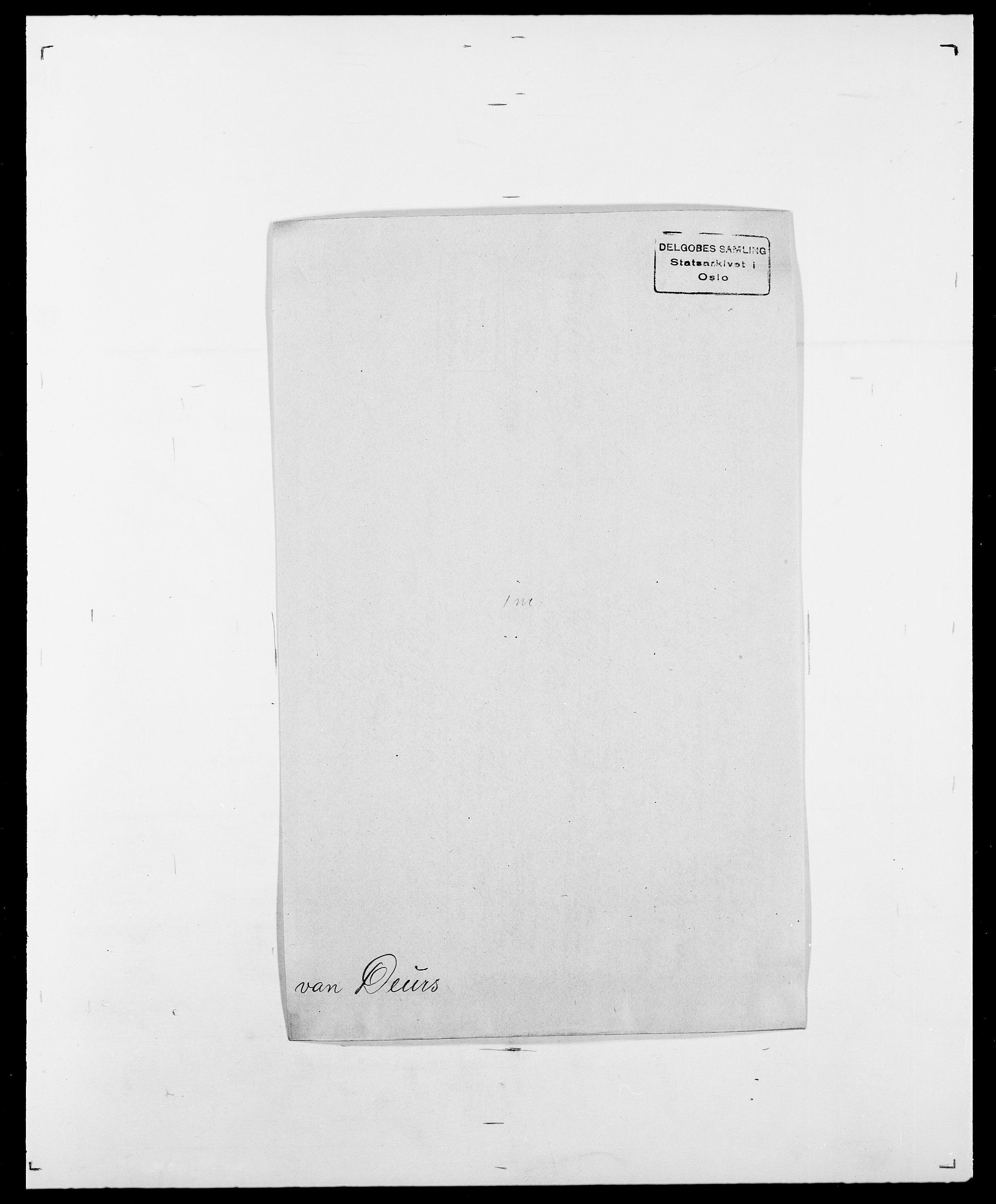 SAO, Delgobe, Charles Antoine - samling, D/Da/L0009: Dahl - v. Düren, s. 503