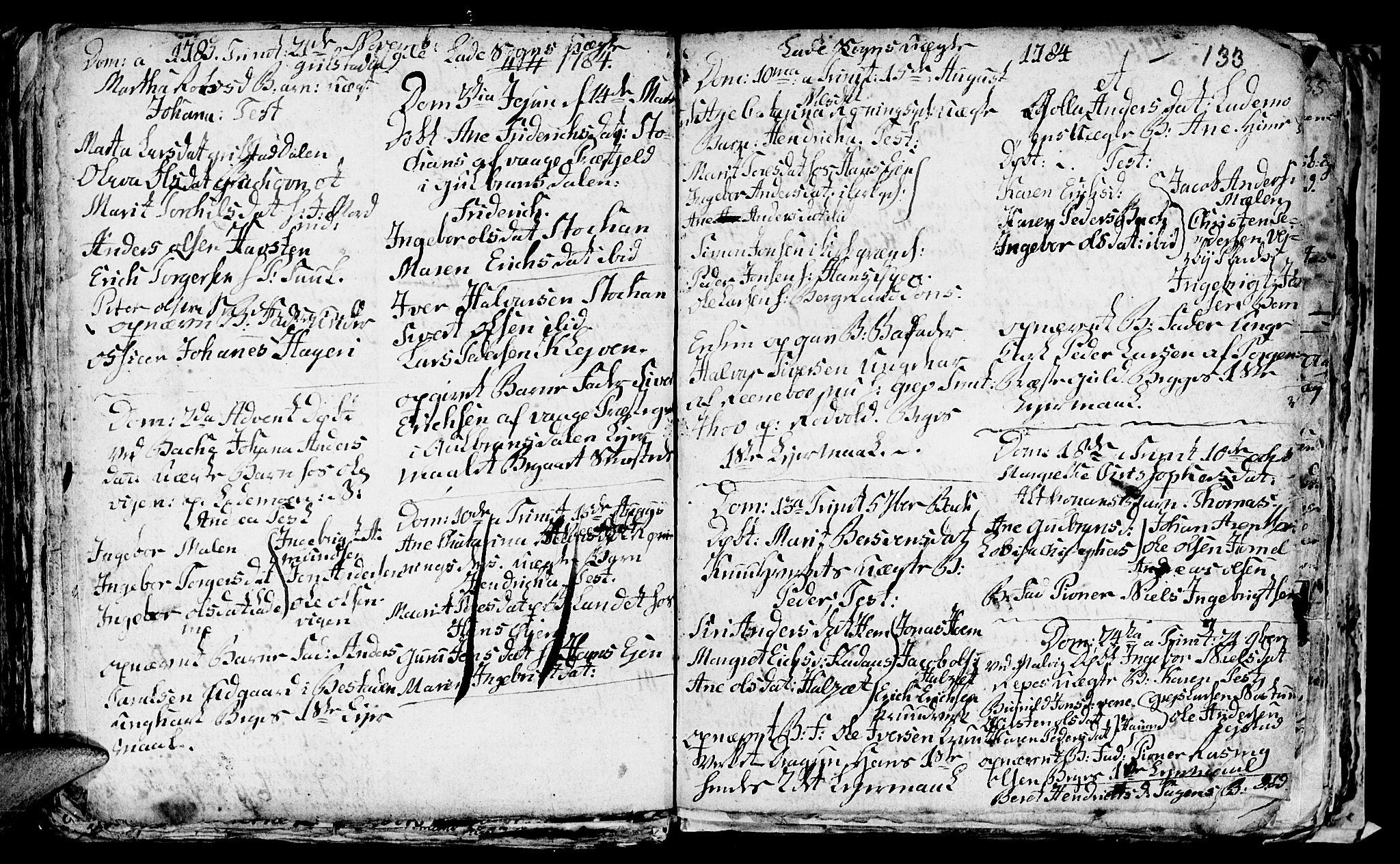 SAT, Ministerialprotokoller, klokkerbøker og fødselsregistre - Sør-Trøndelag, 606/L0305: Klokkerbok nr. 606C01, 1757-1819, s. 133