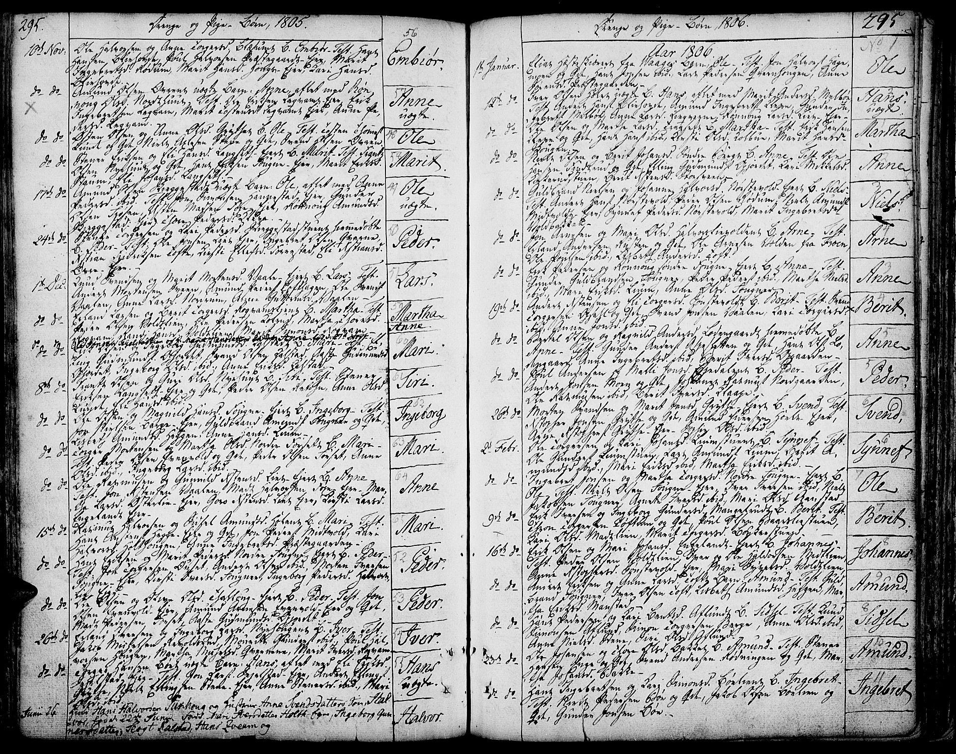 SAH, Gausdal prestekontor, Ministerialbok nr. 3, 1758-1809, s. 295