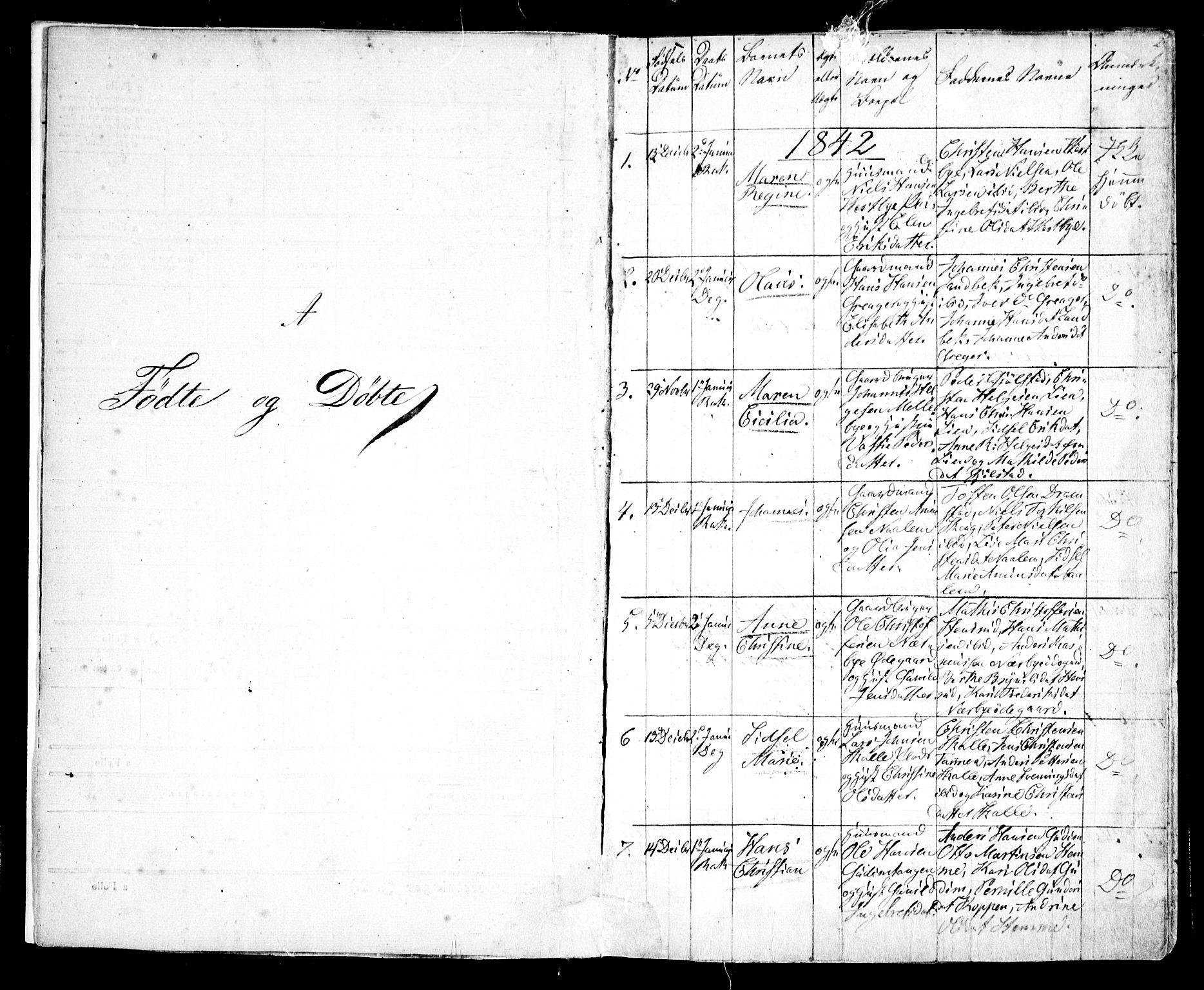 SAO, Rakkestad prestekontor Kirkebøker, F/Fa/L0008: Ministerialbok nr. I 8, 1842-1849, s. 2