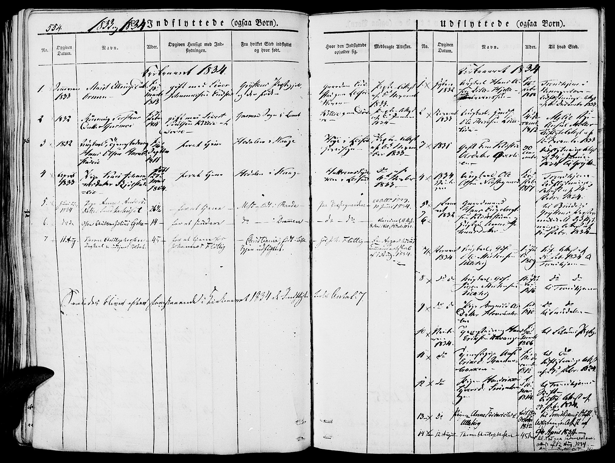 SAH, Lesja prestekontor, Ministerialbok nr. 5, 1830-1842, s. 554